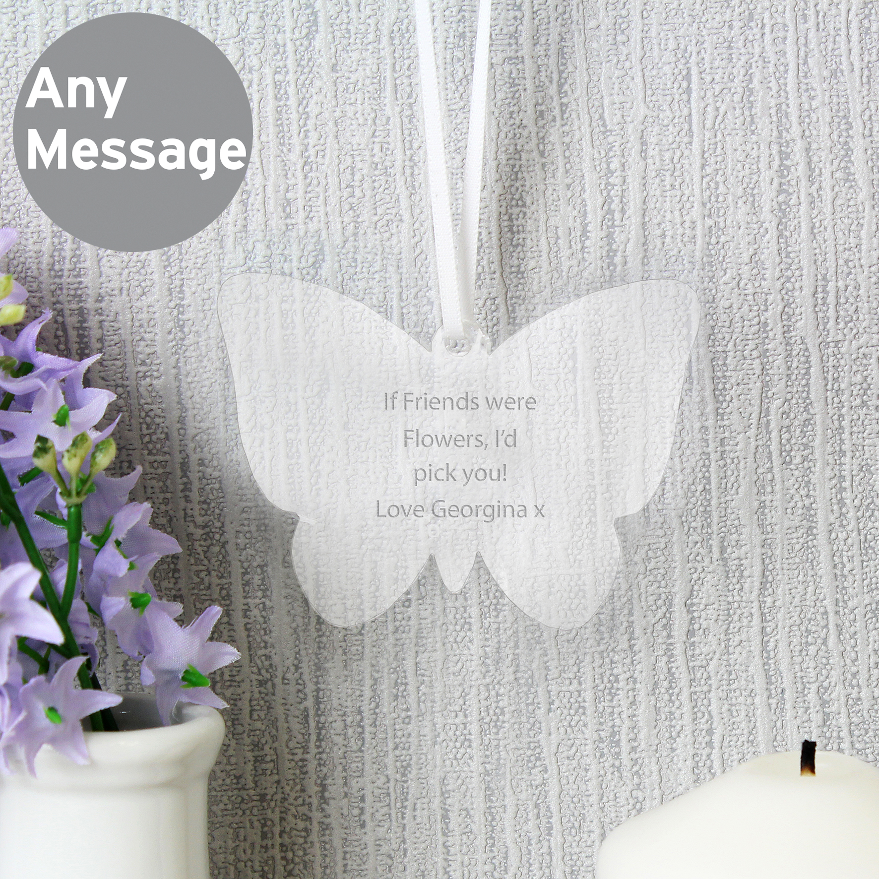 Engraved Acrylic Butterfly Decoration