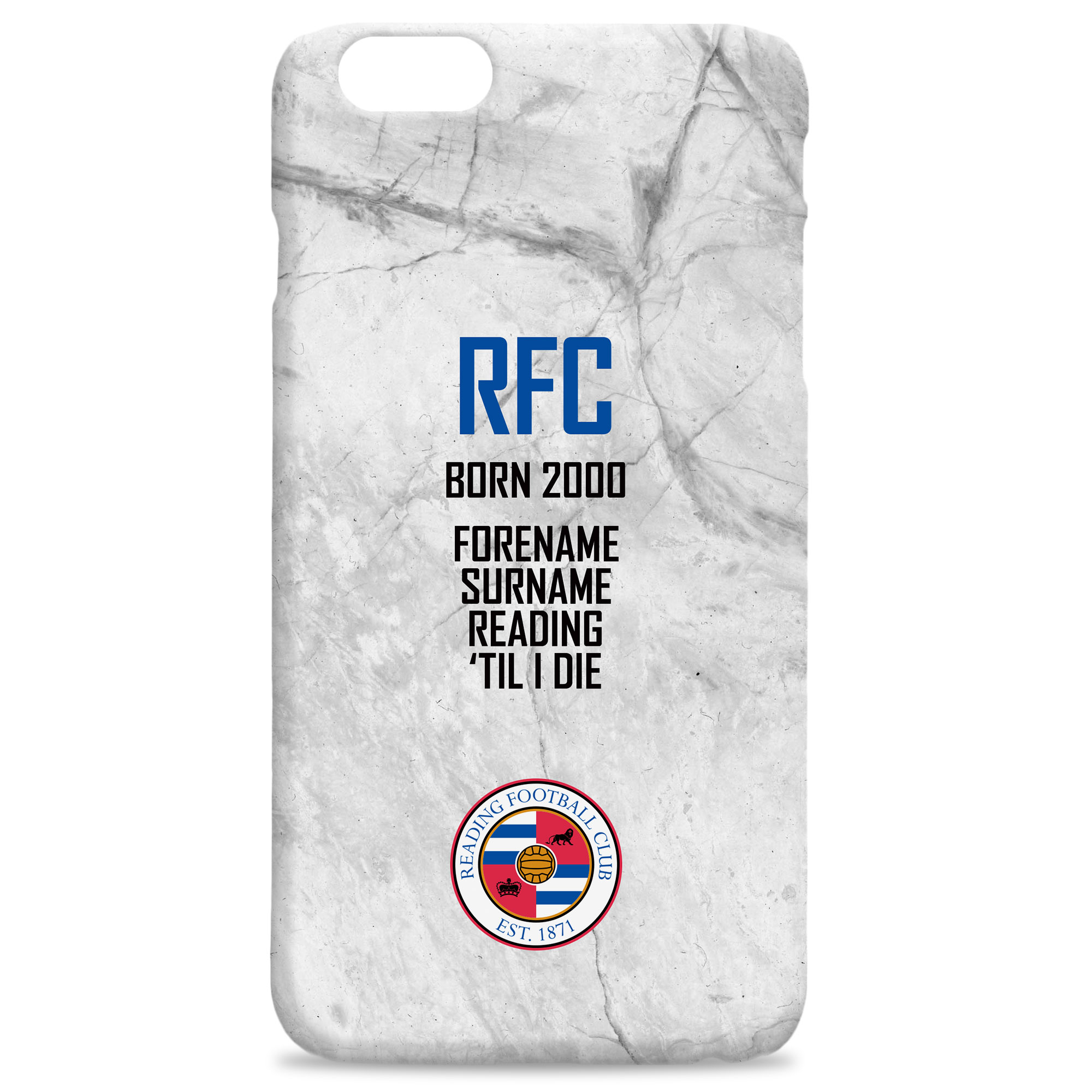 Reading FC 'Til I Die Hard Back Phone Case