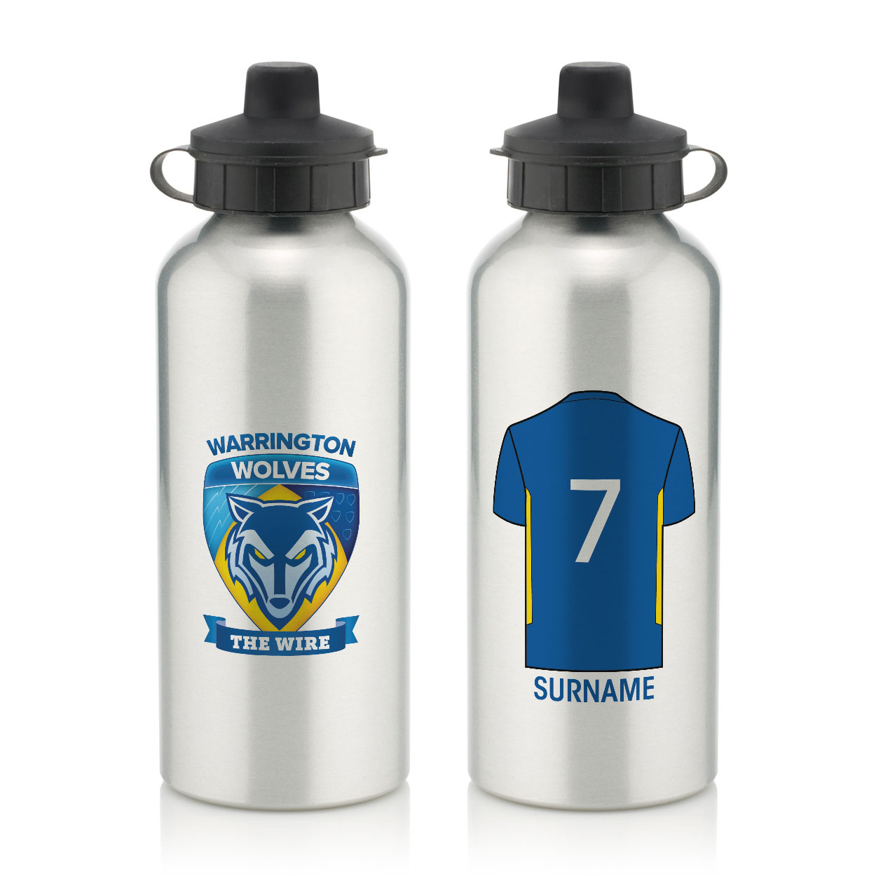 Warrington Wolves Aluminium Water Bottle