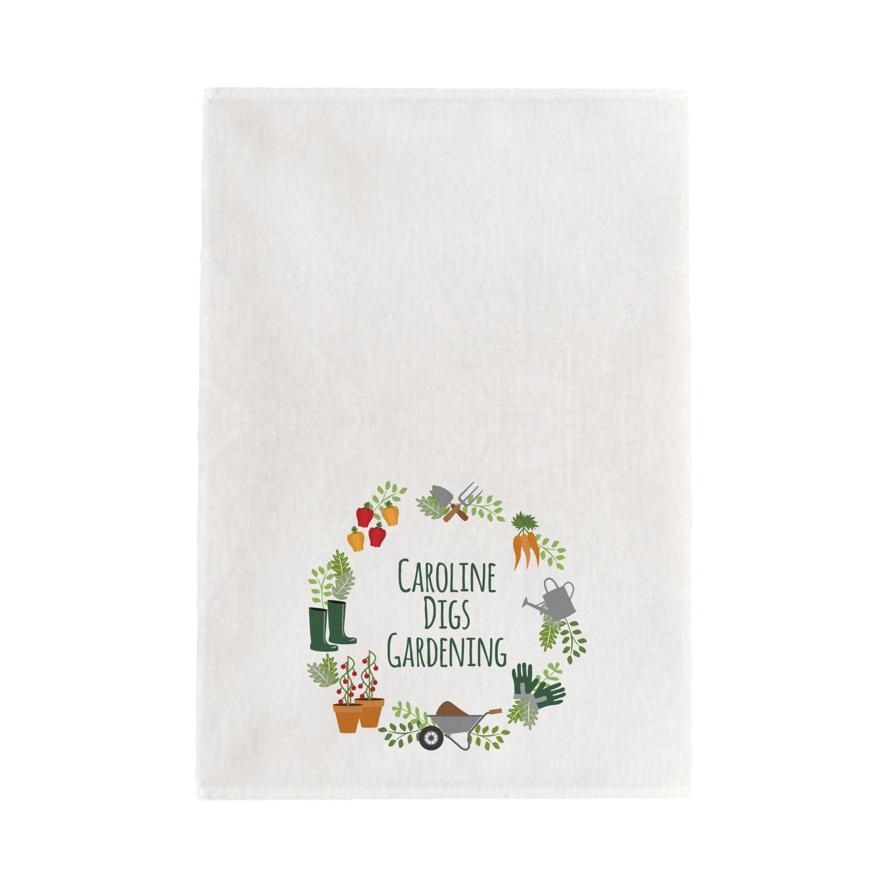 Digs Gardening Tea towel