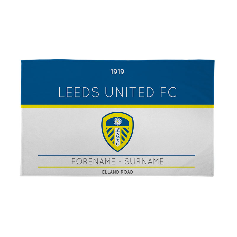 Leeds United FC Minimal Ticket 5ft x 3ft Banner