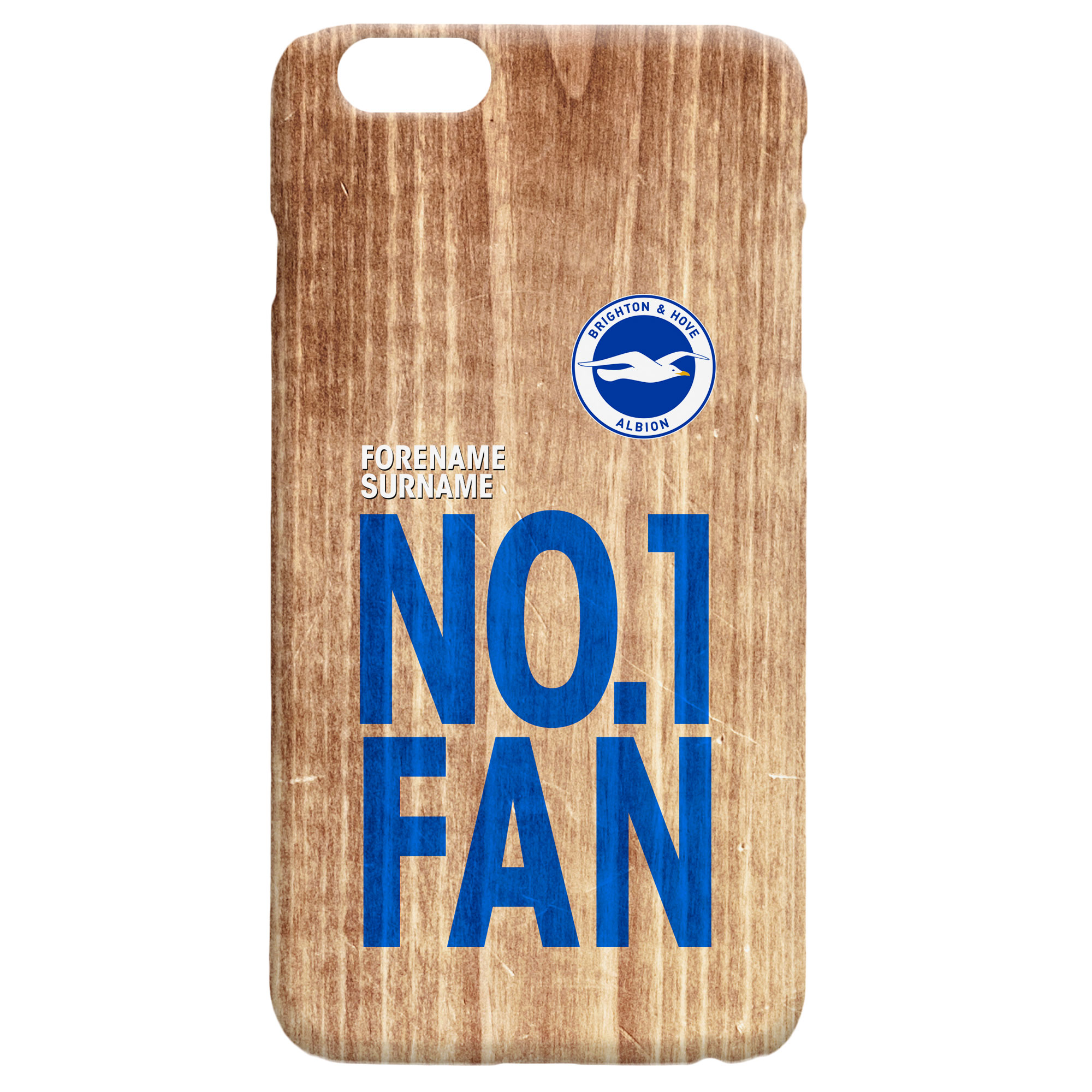Brighton & Hove Albion FC No 1 Fan Hard Back Phone Case