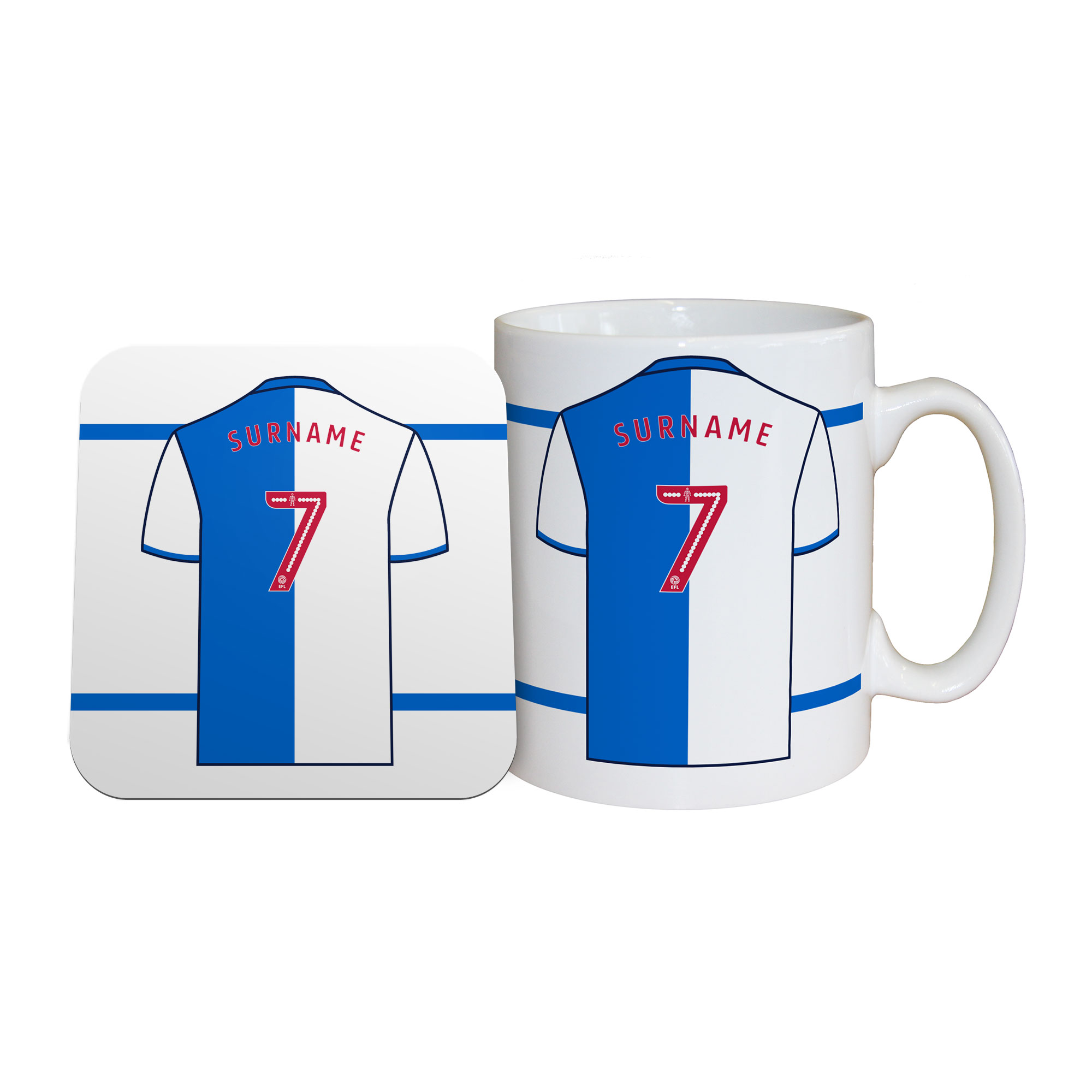 Blackburn Rovers FC Shirt Mug & Coaster Set