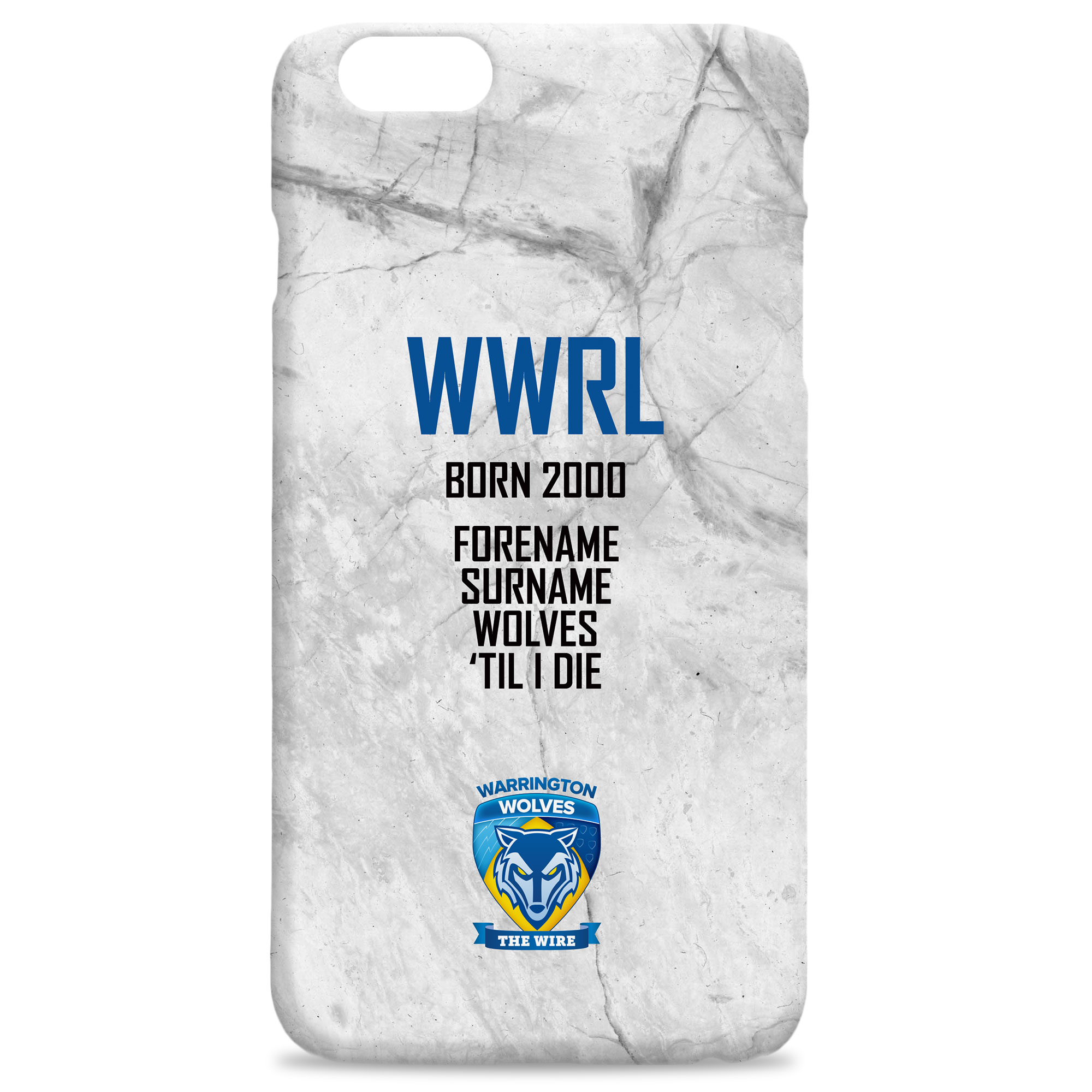 Warrington Wolves 'Til I Die Hard Back Phone Case