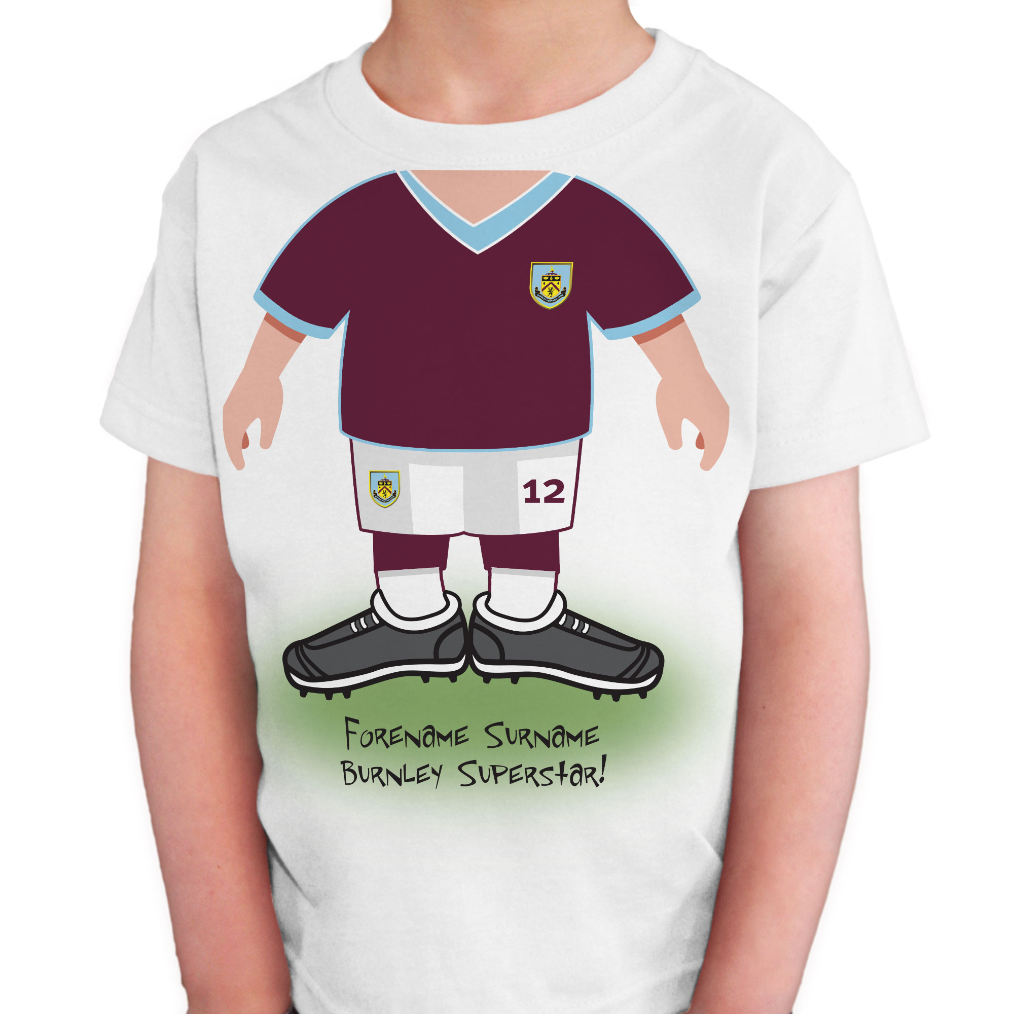 Burnley FC Kids Use Your Head T-Shirt