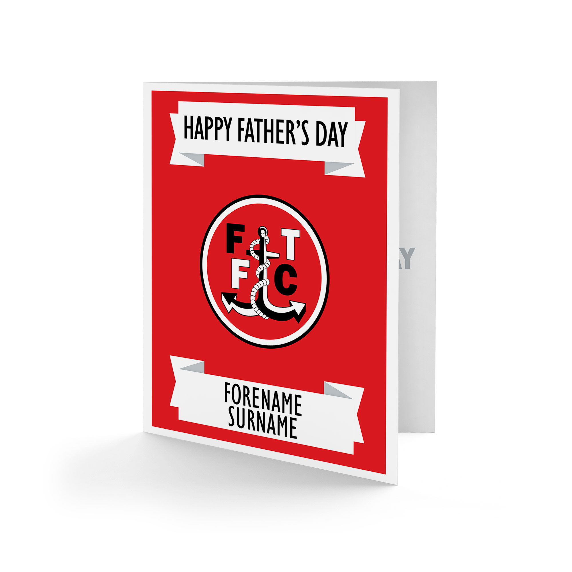 Fleetwood Town FC Crest Father's Day Card