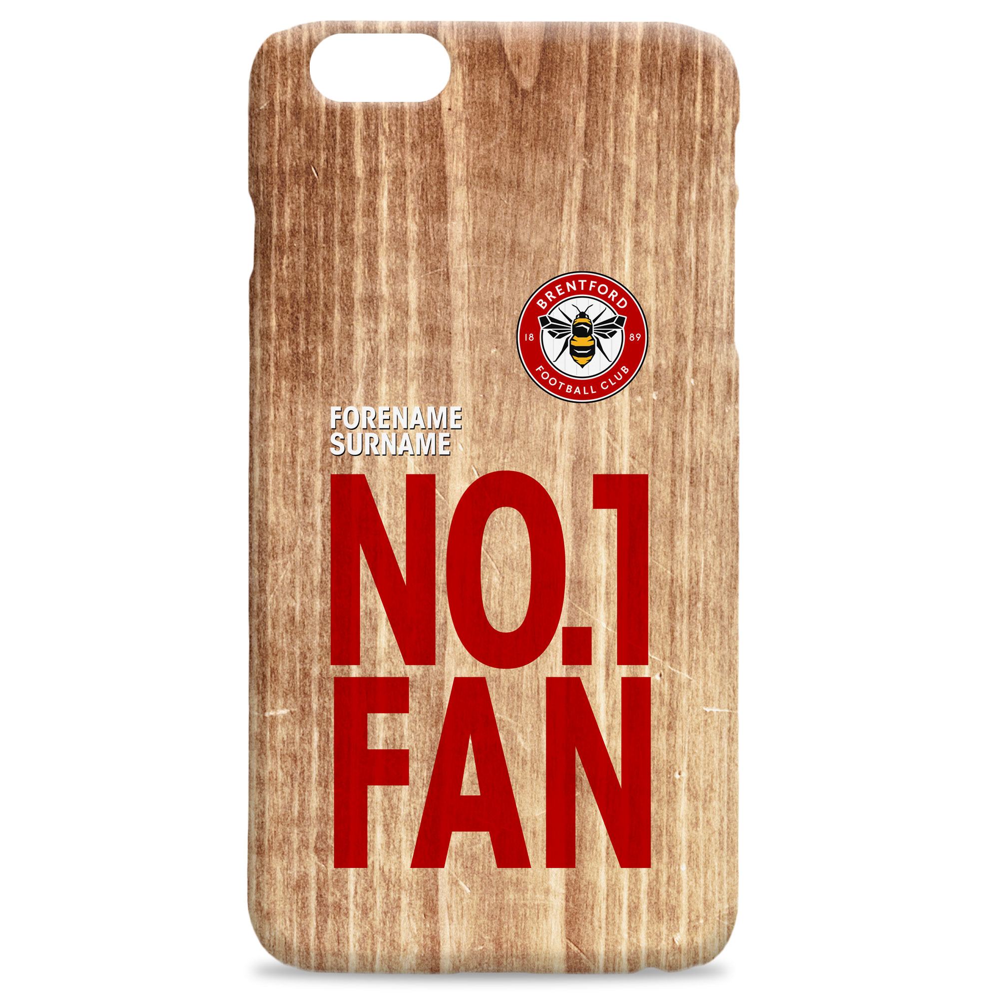 Brentford FC No 1 Fan Hard Back Phone Case