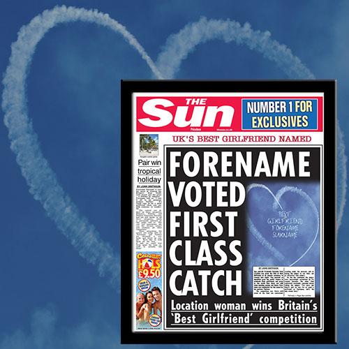The Sun Best Girlfriend News Single Page Print