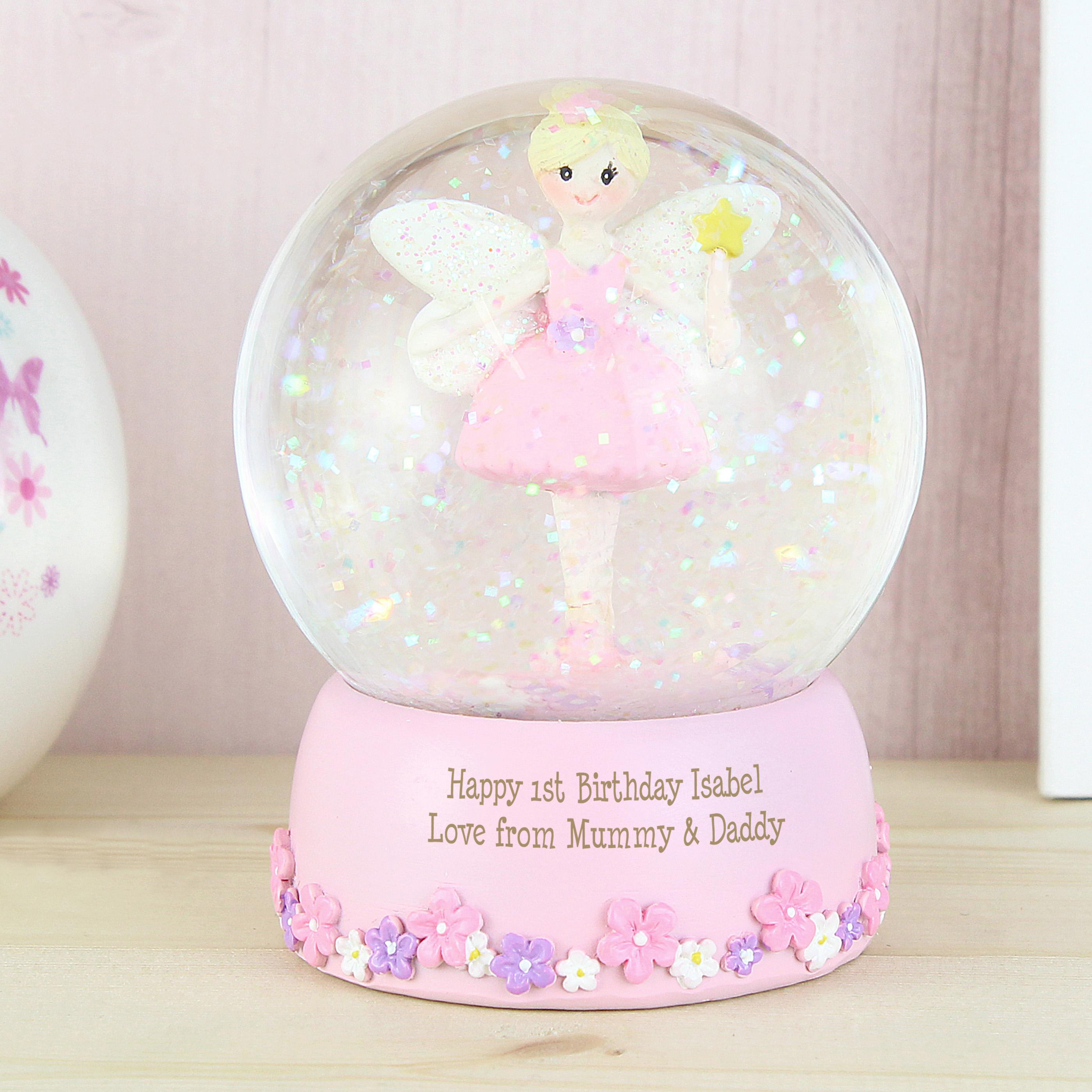 Personalised Fairy Snow Globe