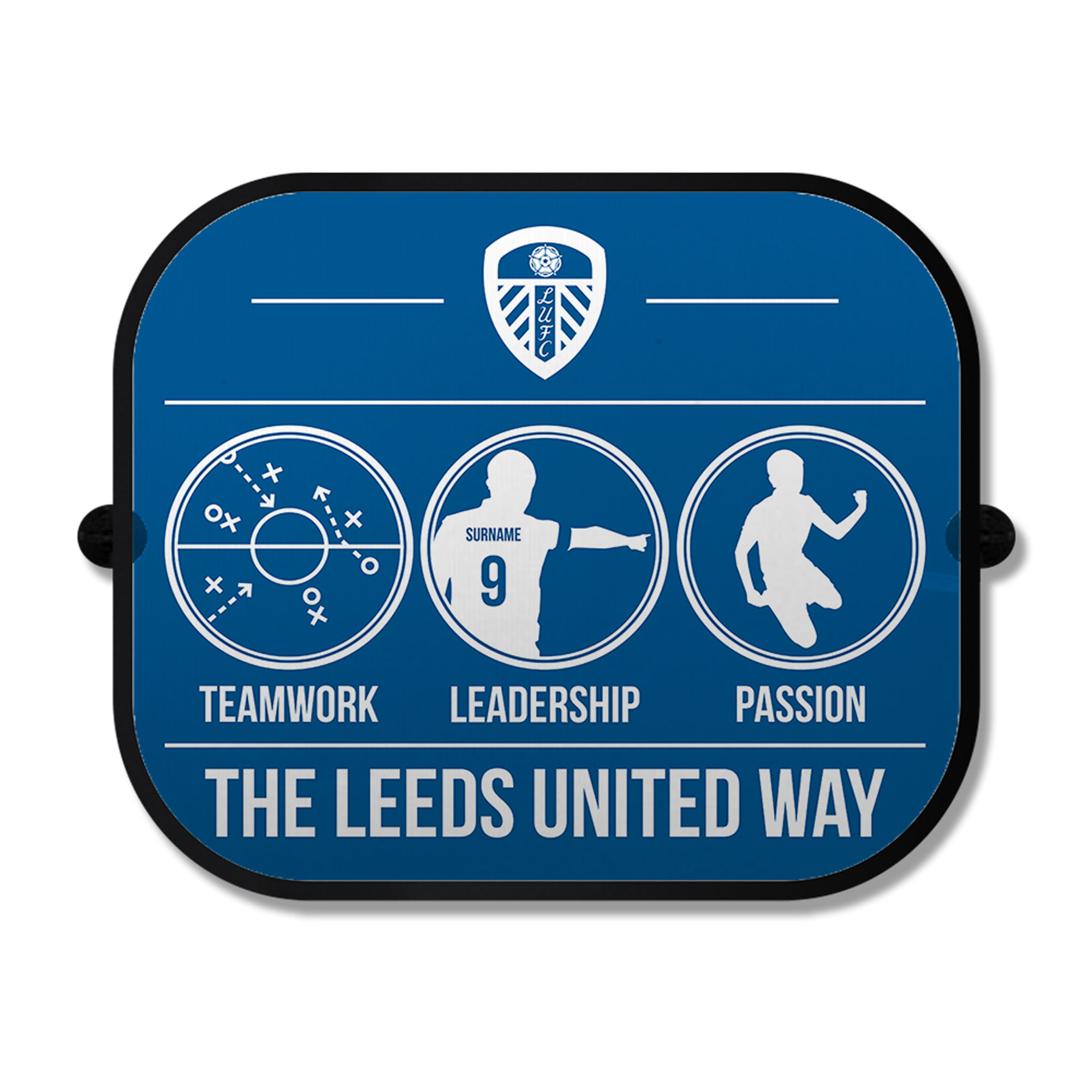 Leeds United FC Way Car Sunshade