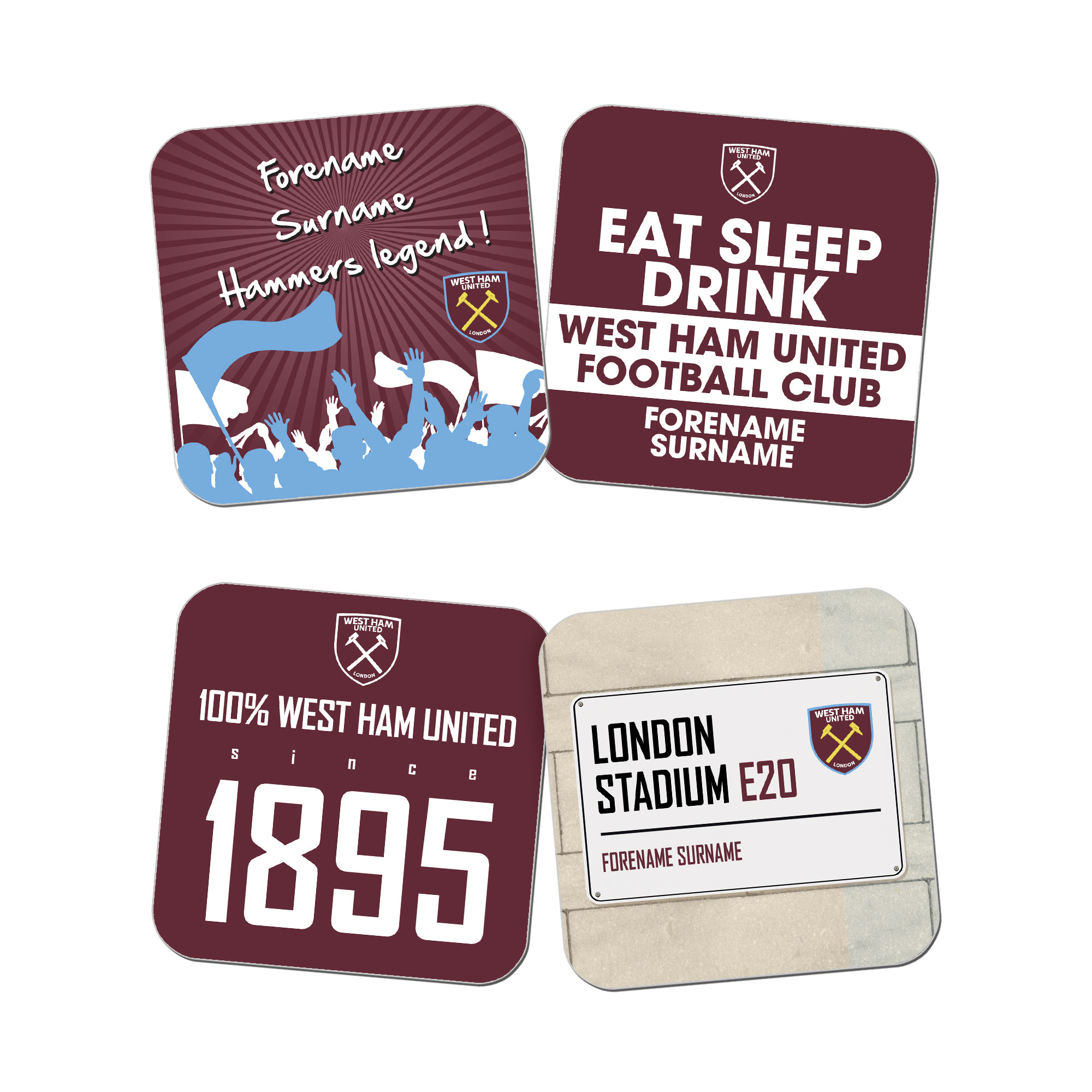 West Ham United FC Coasters