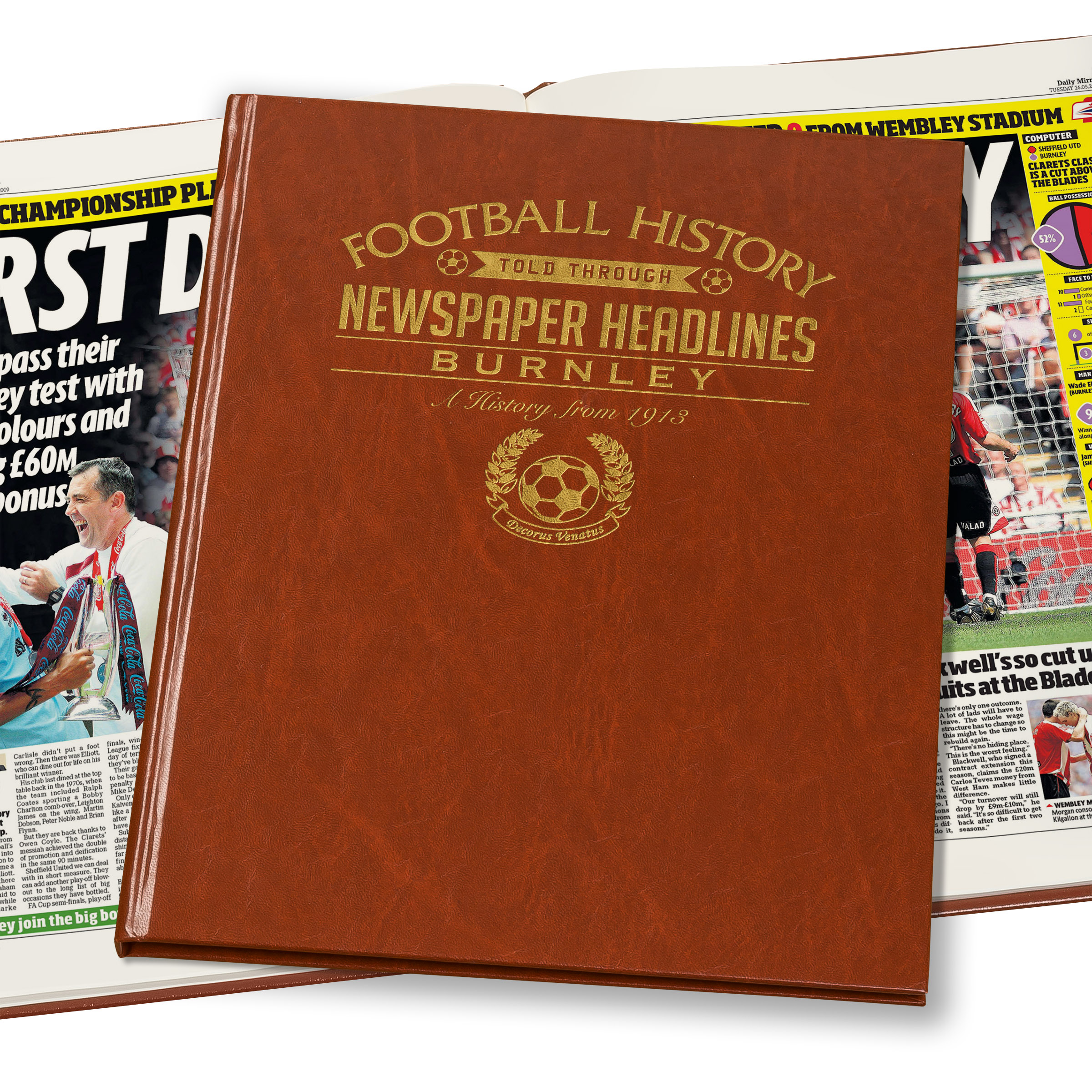 Burnley Football Newspaper Book (Colour Pages)