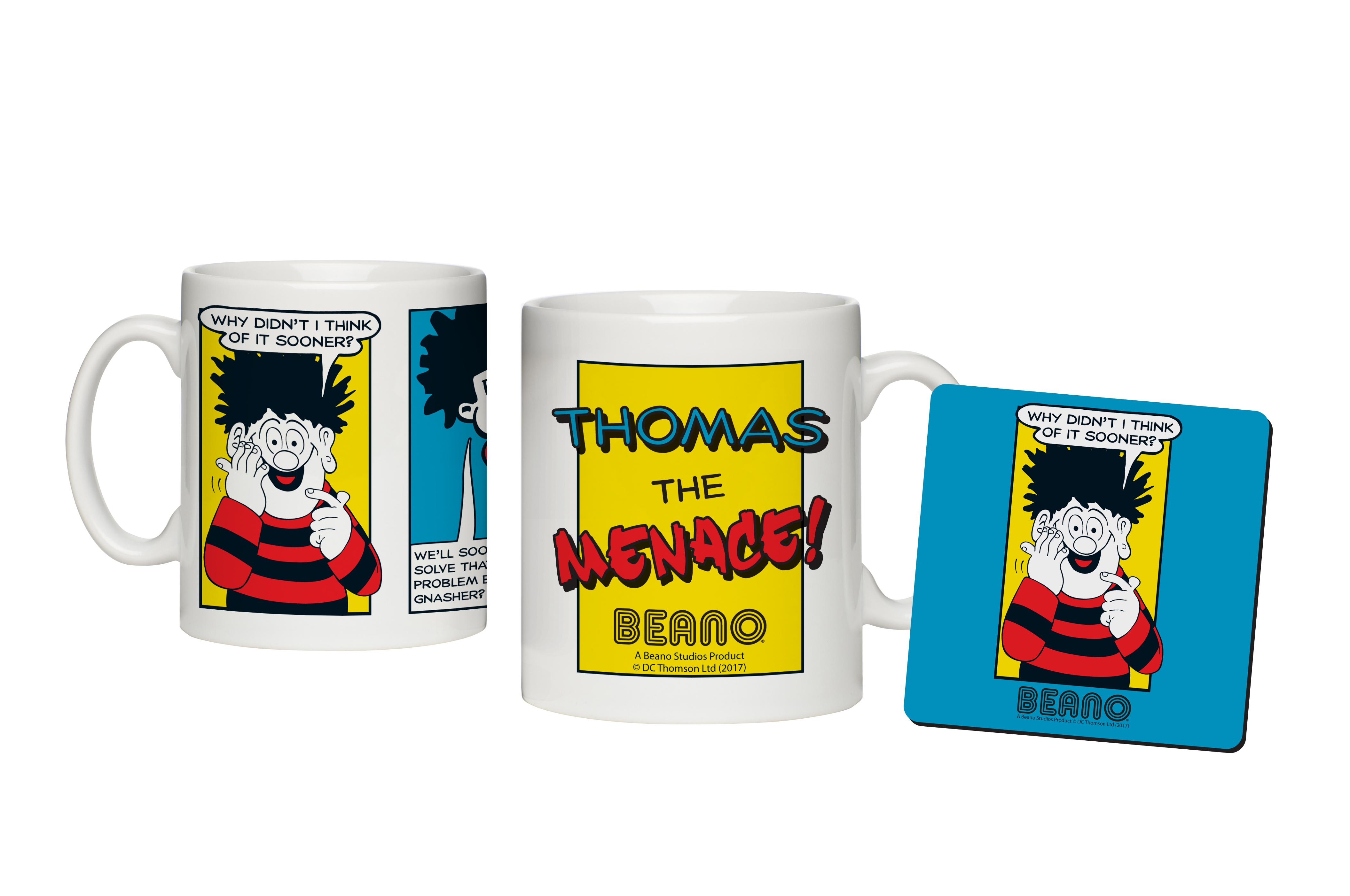 Beano Classic Comic Strip Problem Solved Mug & Coaster