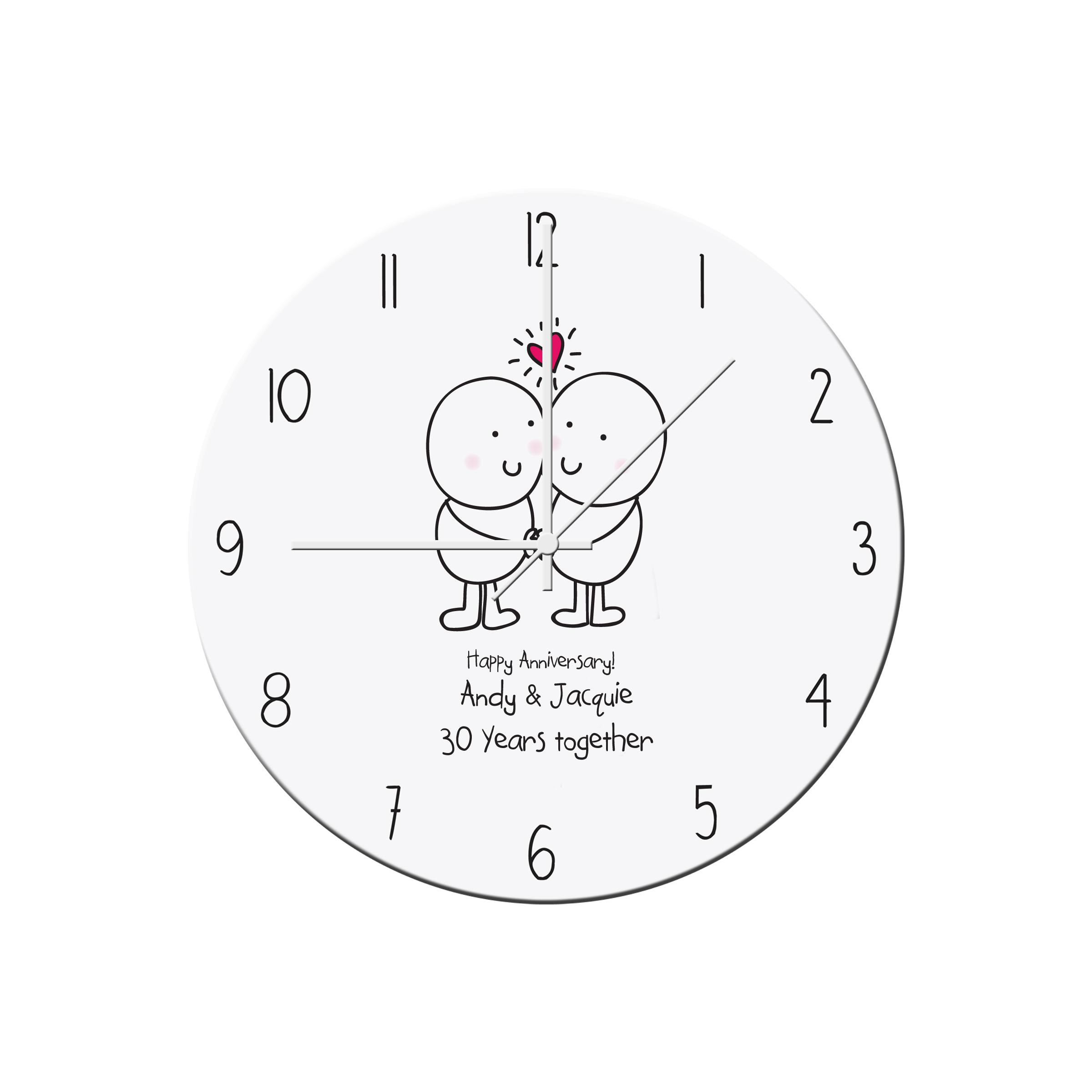 Chilli and Bubbles Anniversary Clock