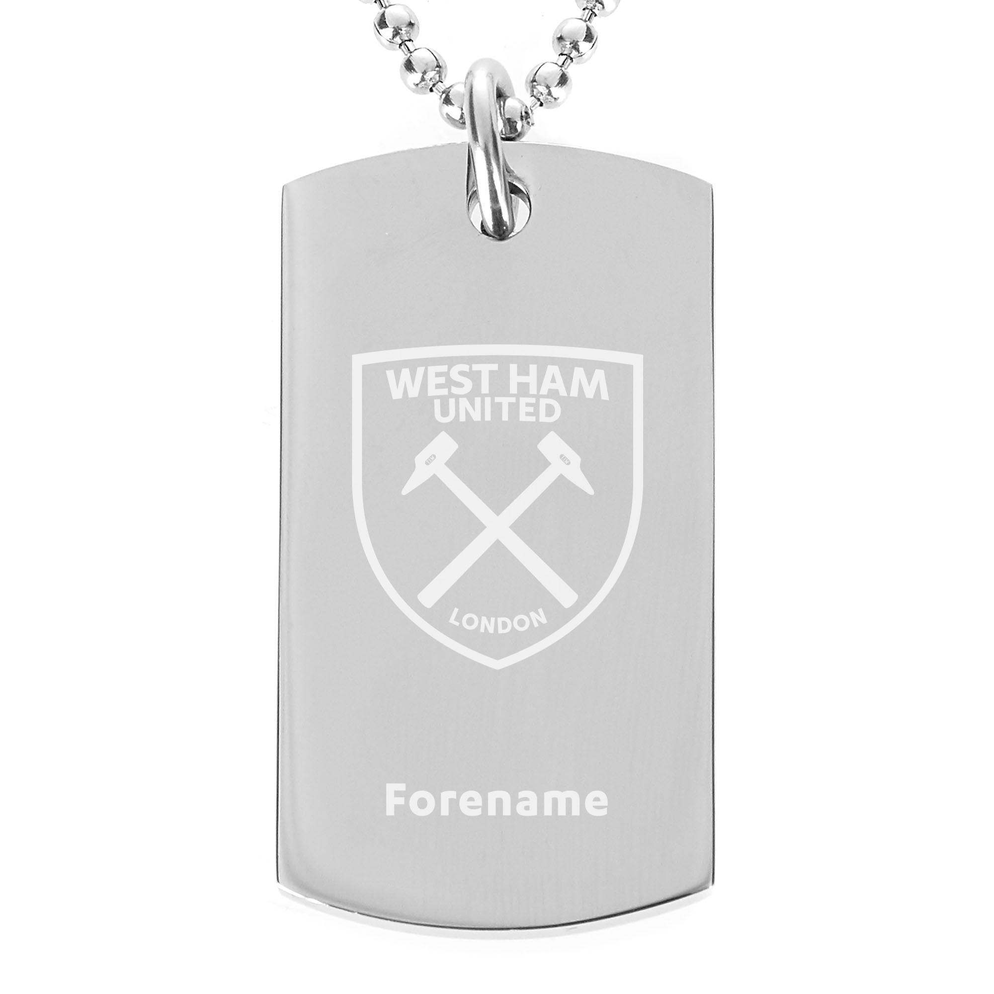West Ham United FC Crest Dog Tag Pendant