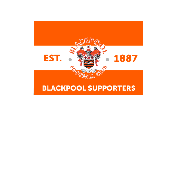 Blackpool Supporters 3ft x 2ft Banner