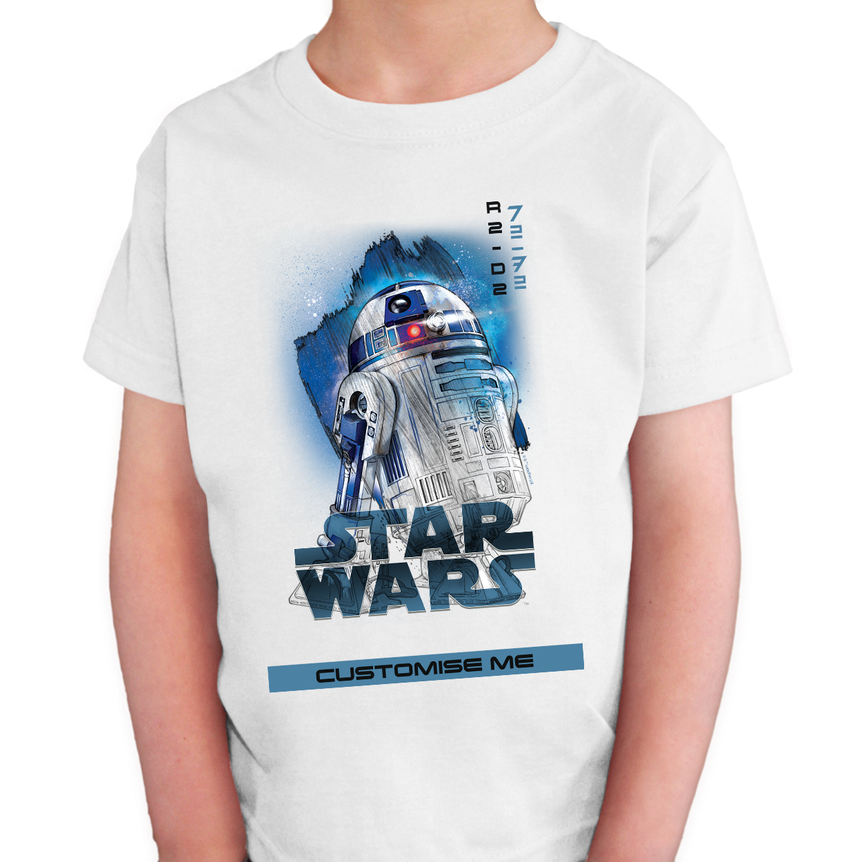 Star Wars R2-D2 Last Jedi Spray Paint Kids T-shirt