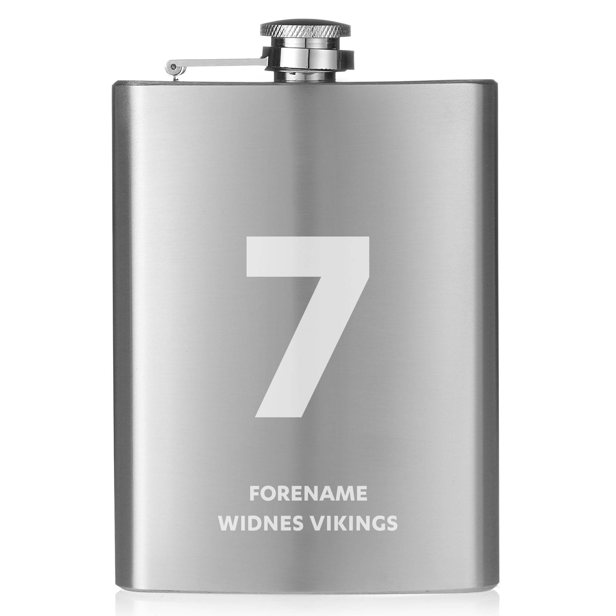Widnes Vikings Shirt Hip Flask