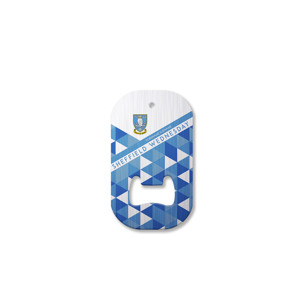 Sheffield Wednesday FC Patterned Compact Bottle Opener