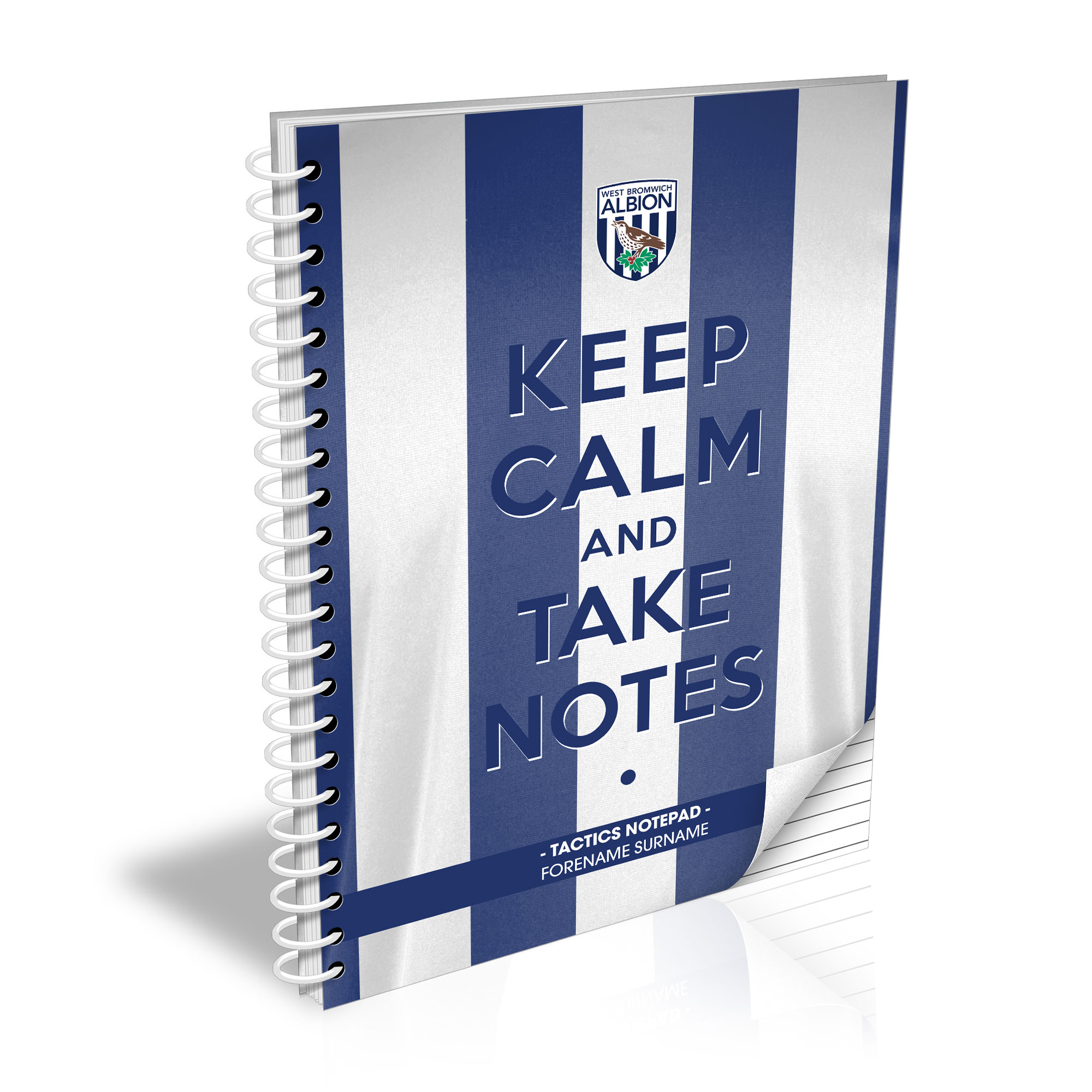 West Bromwich Albion FC Keep Calm Notebook