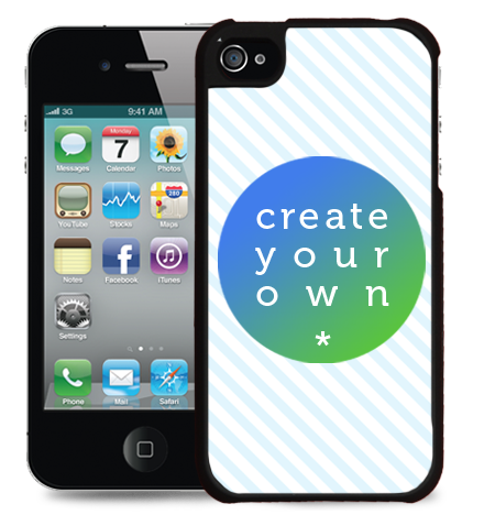 2D Snap Case iPhone 4/4s Plastic Black