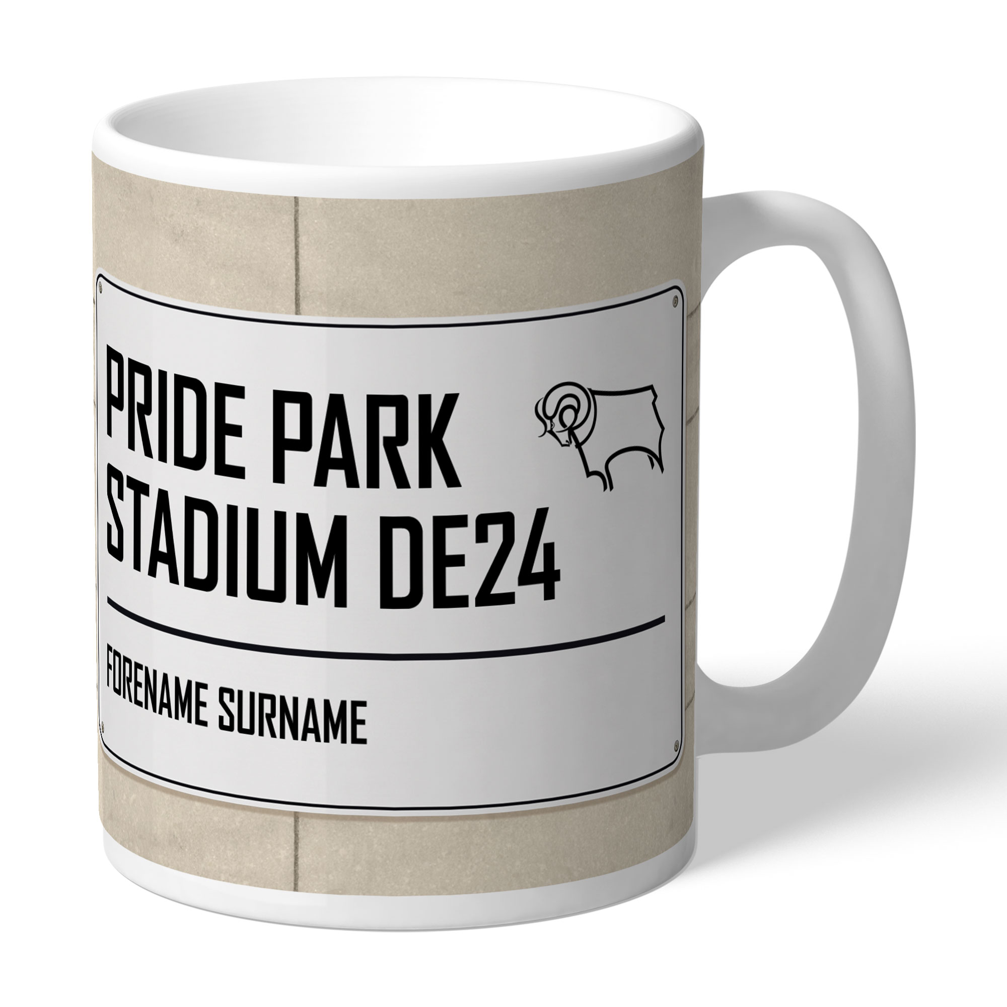 Derby County Street Sign Mug