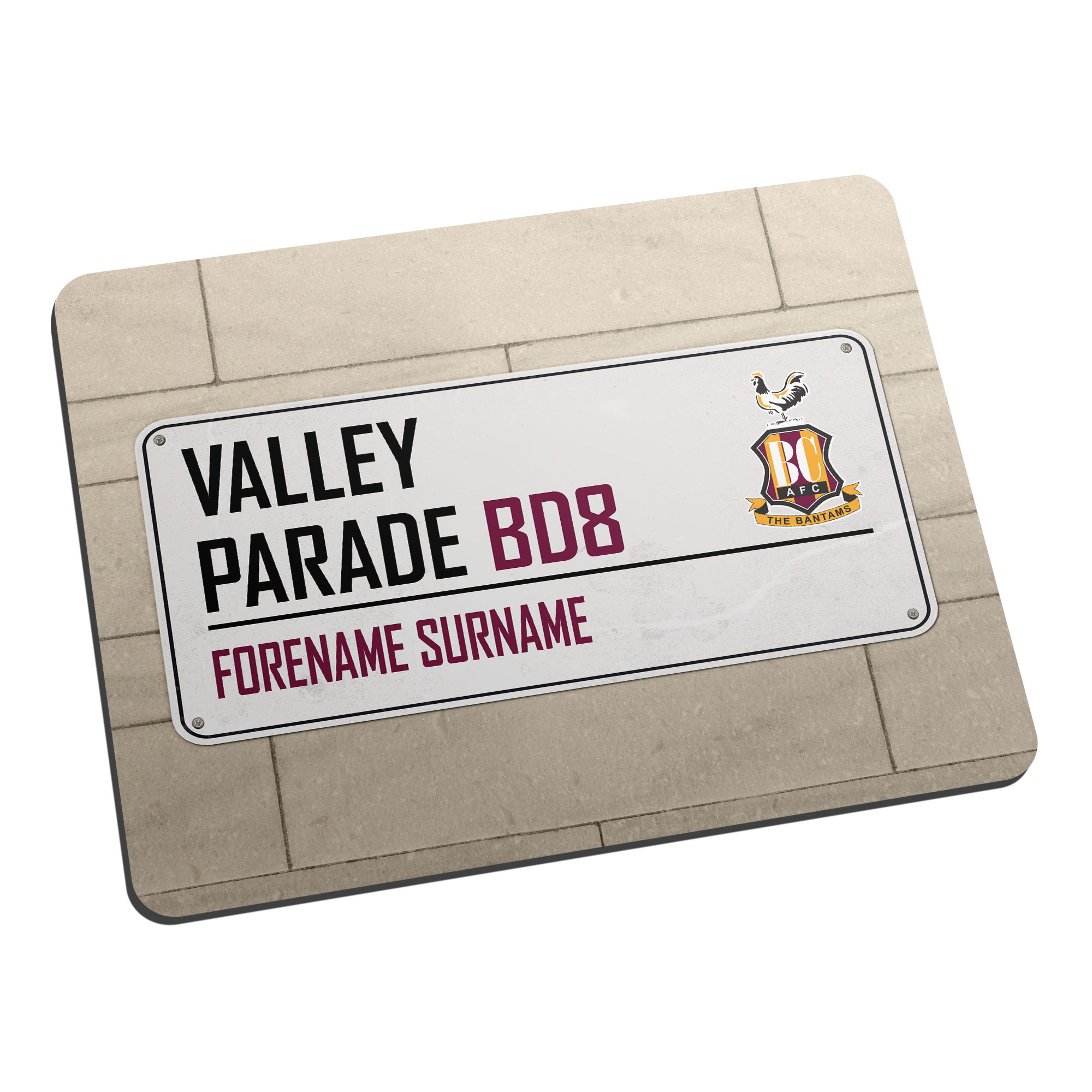 Bradford City AFC Street Sign Mouse Mat