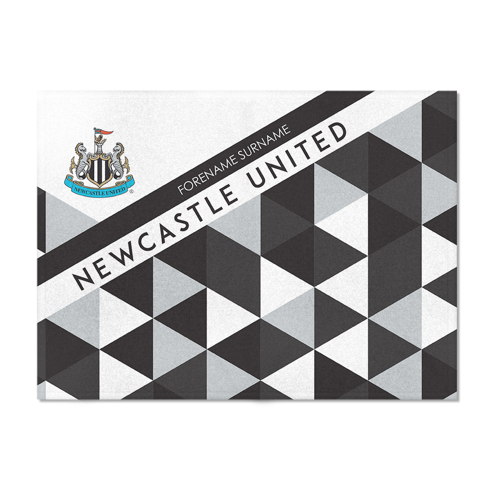 Newcastle United FC Patterned Blanket (150cm x 110cm)
