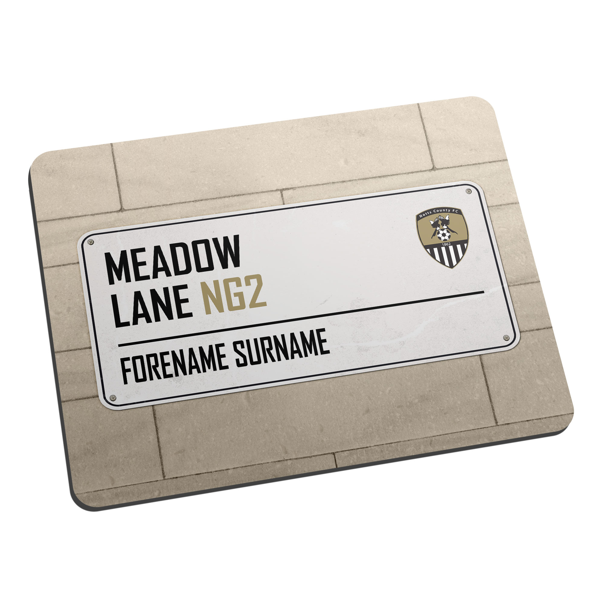 Notts County FC Street Sign Mouse Mat