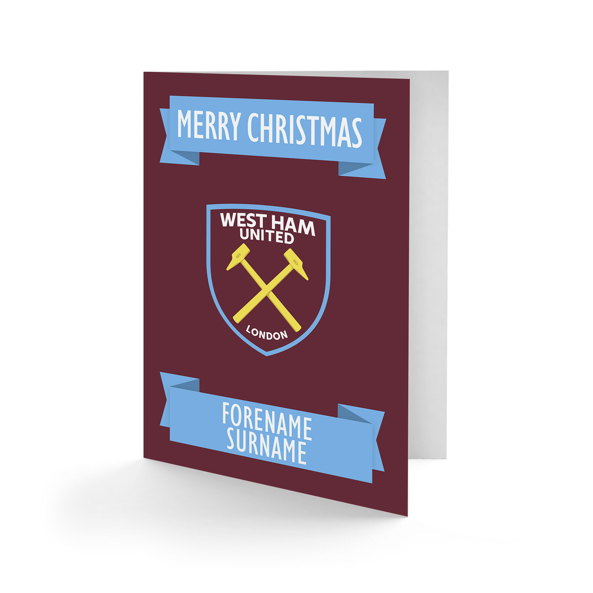 West Ham United FC Crest Christmas Card