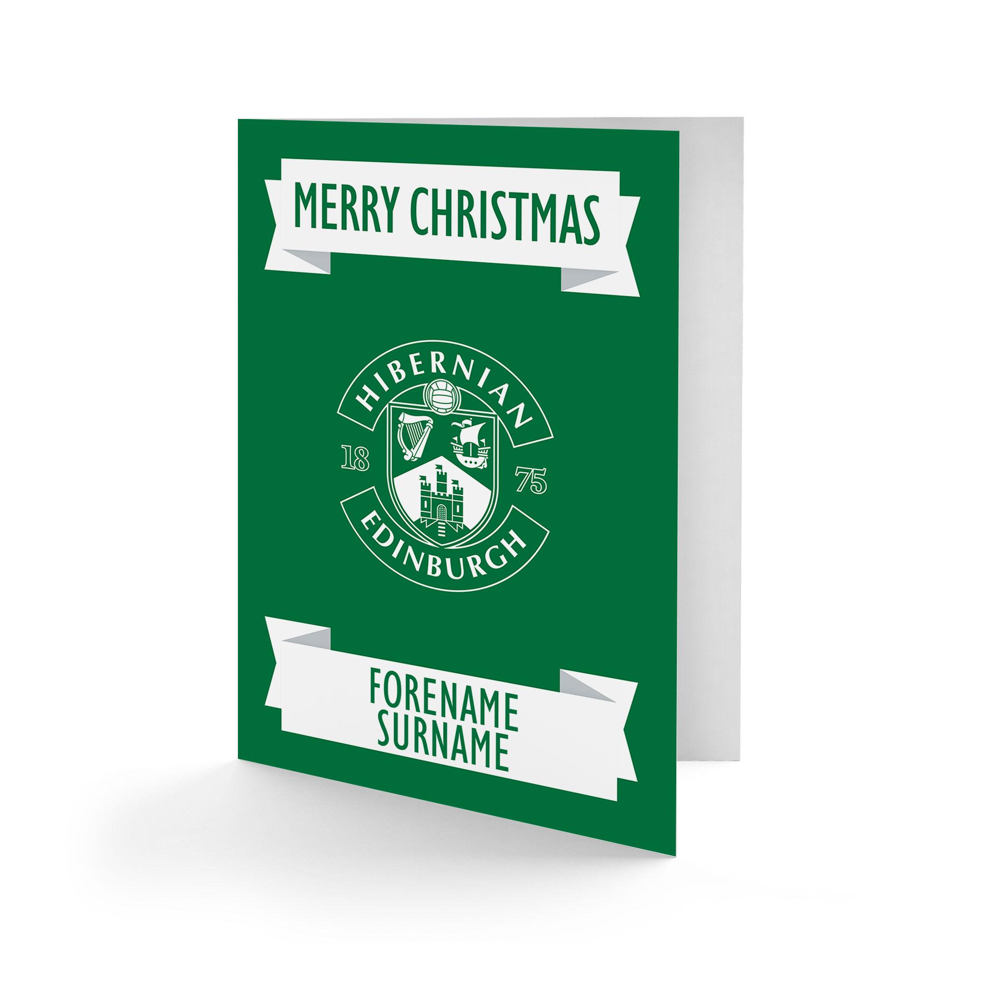 Hibernian FC Crest Christmas Card