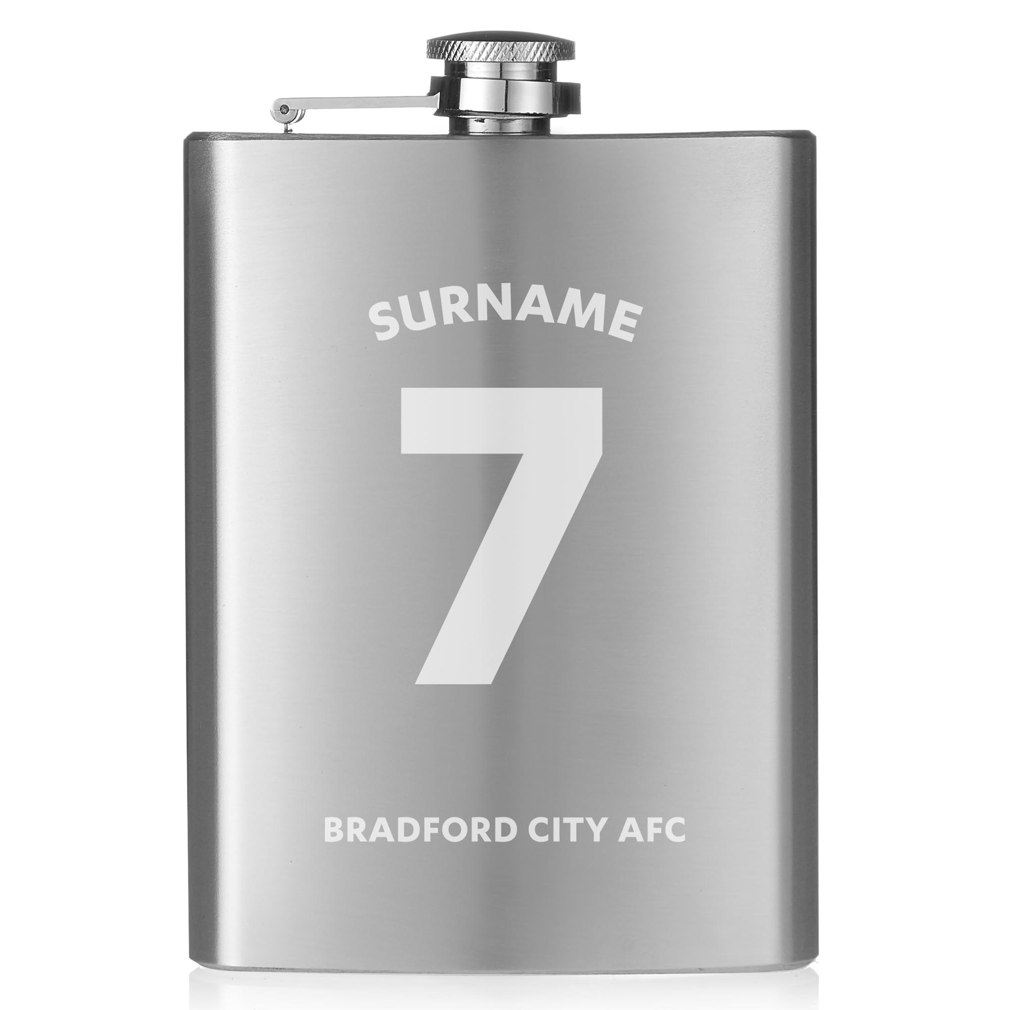 Bradford City AFC Shirt Hip Flask