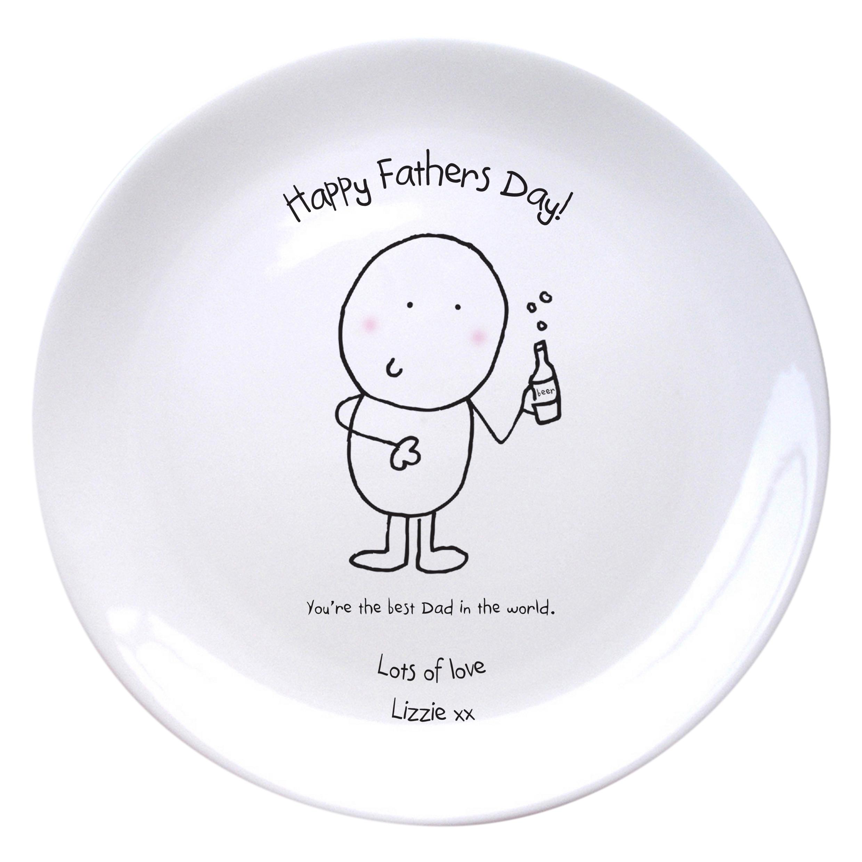 Chilli & Bubbles Best Dad Plate