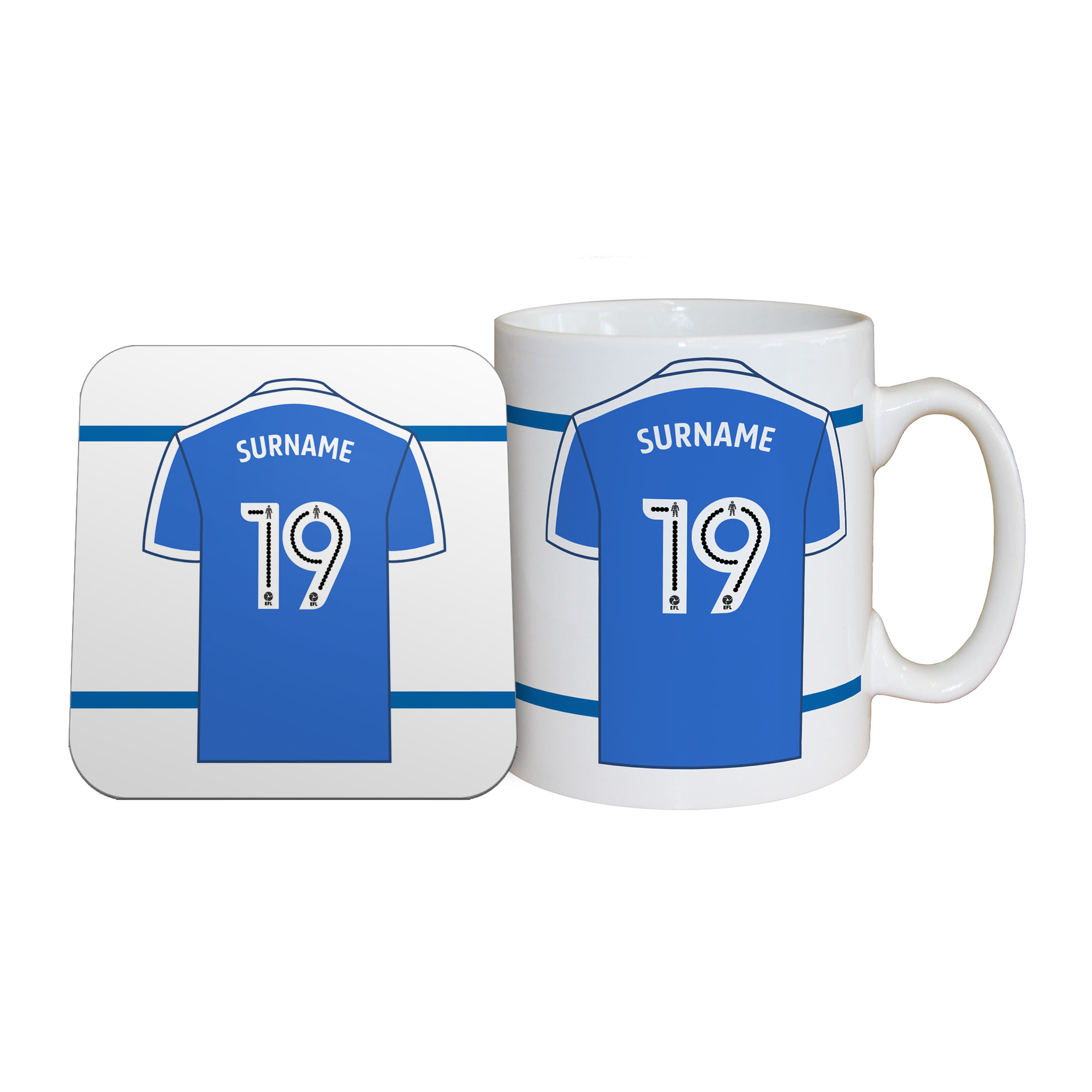 Peterborough United FC Shirt Mug & Coaster Set