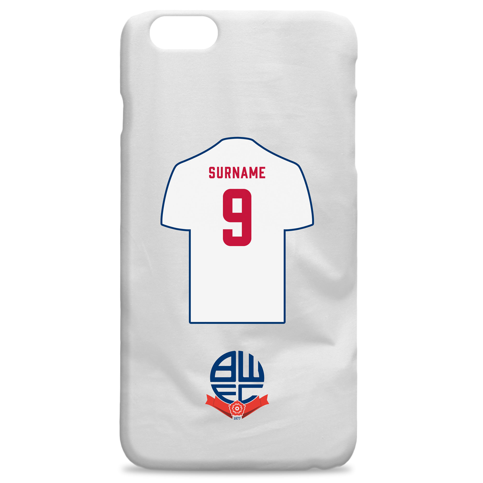Bolton Wanderers FC Shirt Hard Back Phone Case