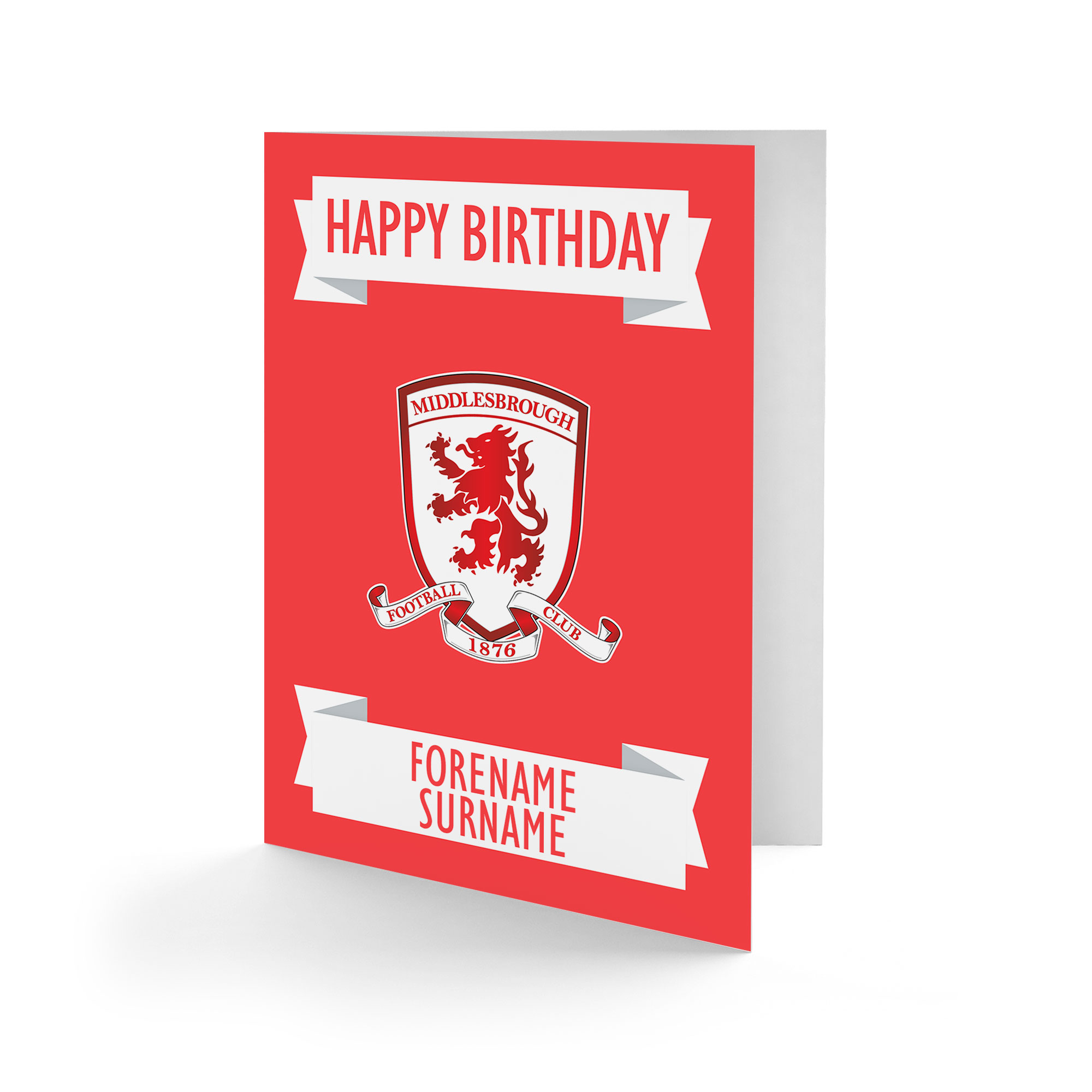 Middlesbrough FC Crest Birthday Card