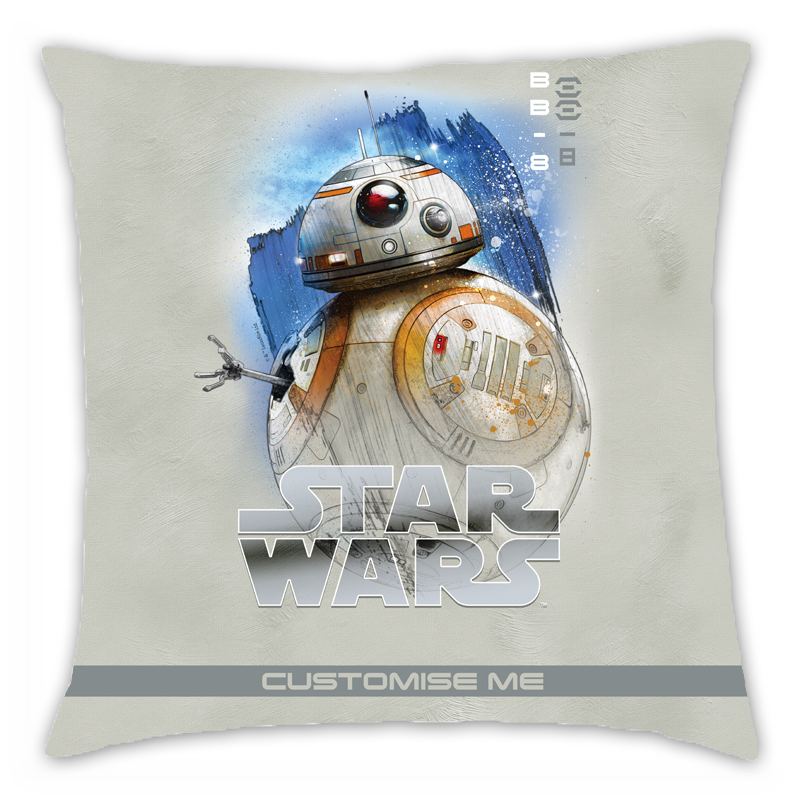 Star Wars BB-8 Last Jedi Spray Paint Cushion