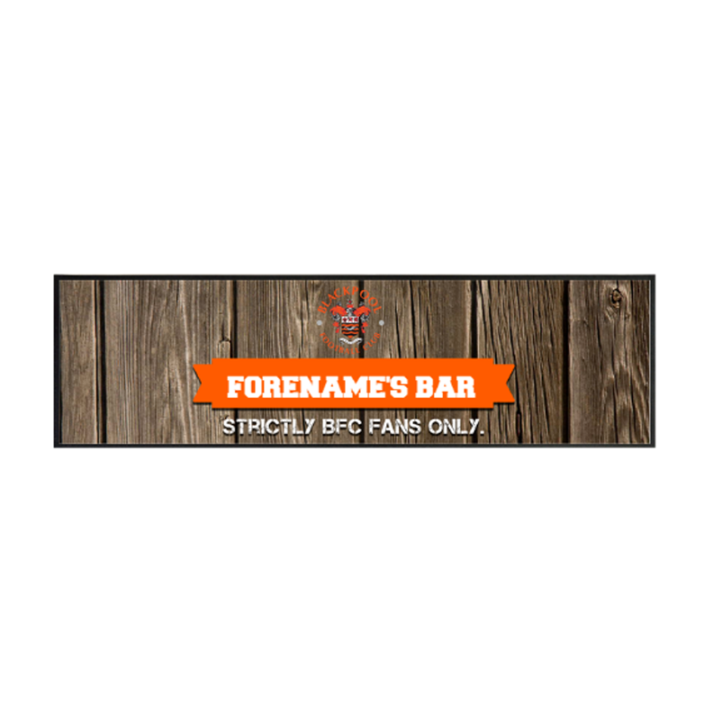 Blackpool Wood Name Large Bar Runner