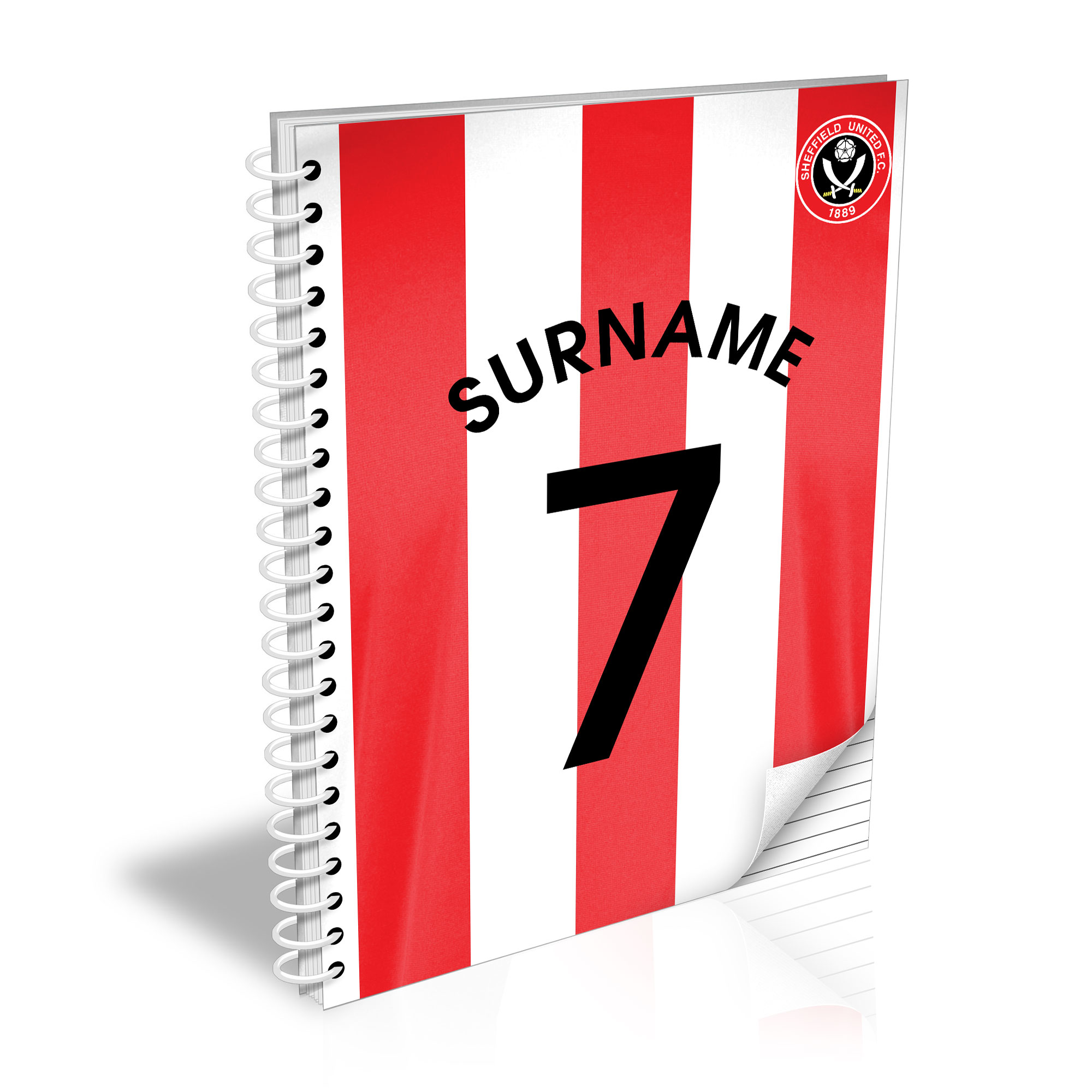 Sheffield United FC Shirt Notebook