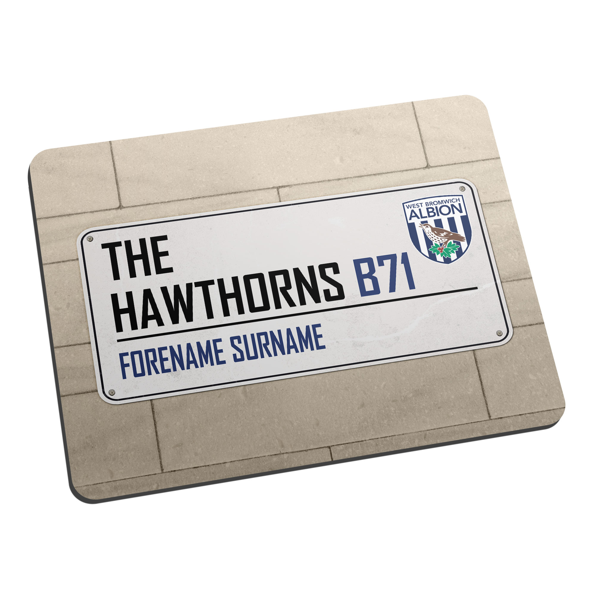 West Bromwich Albion FC Street Sign Mouse Mat