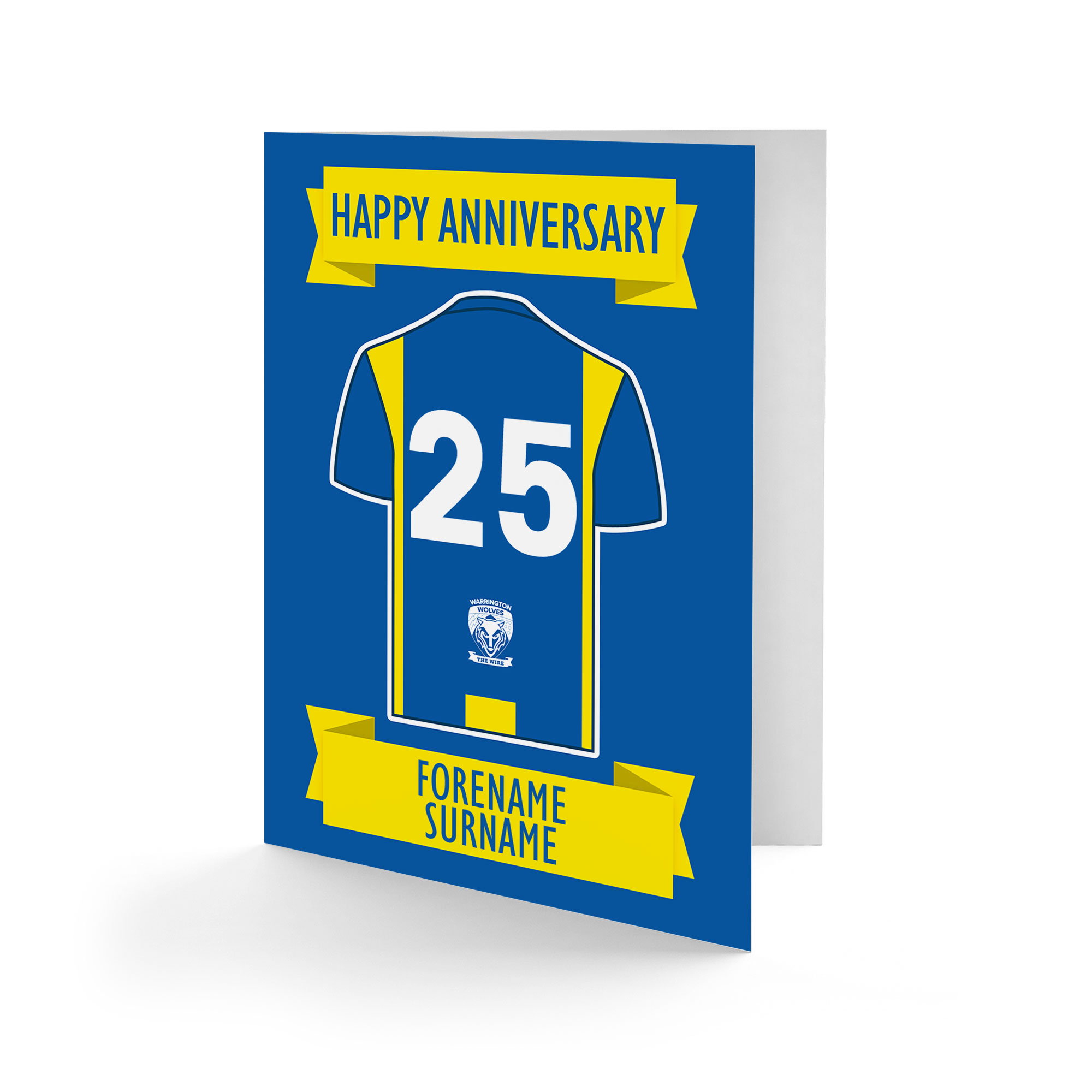 Warrington Wolves Shirt Anniversary Card
