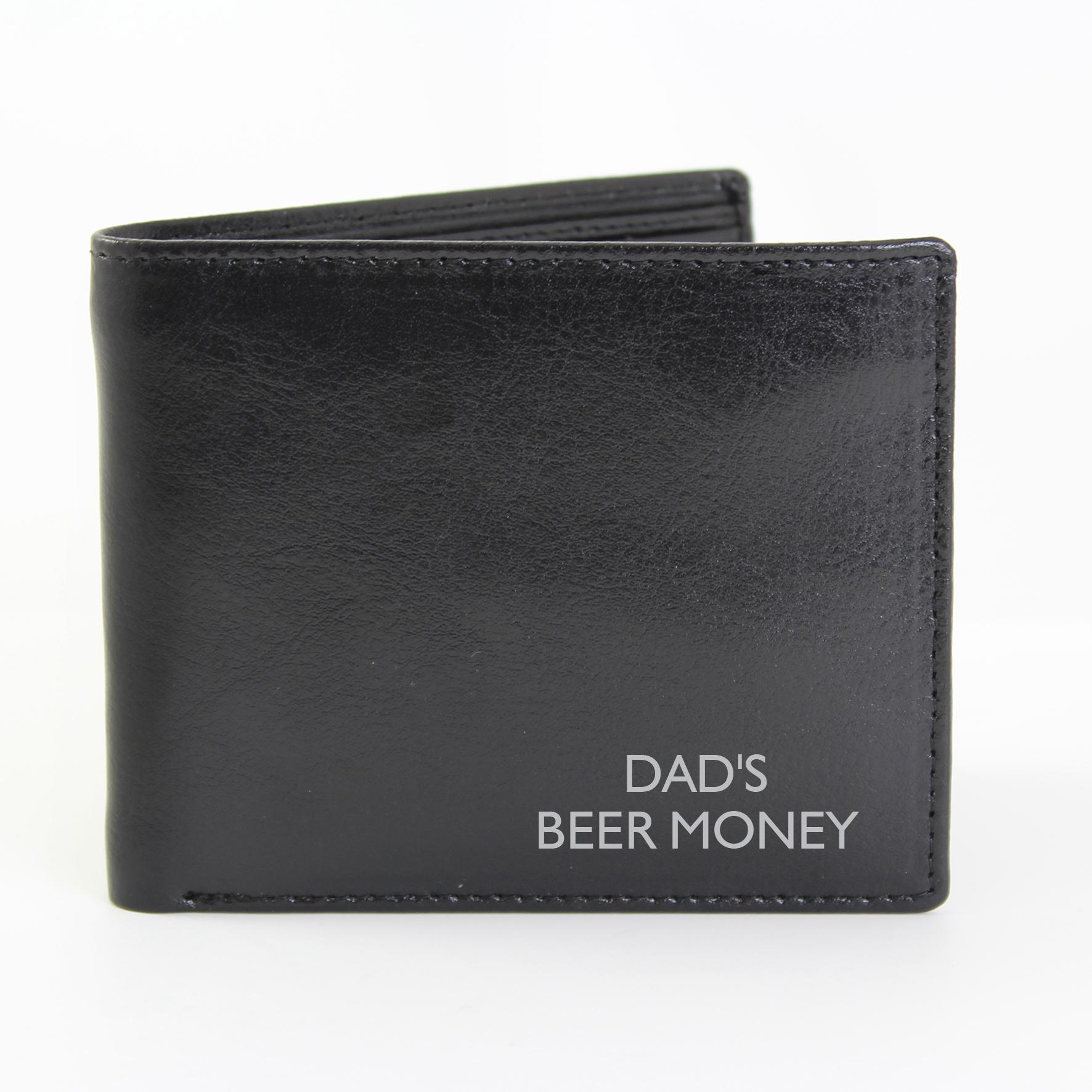 Personalised Black Message Wallet