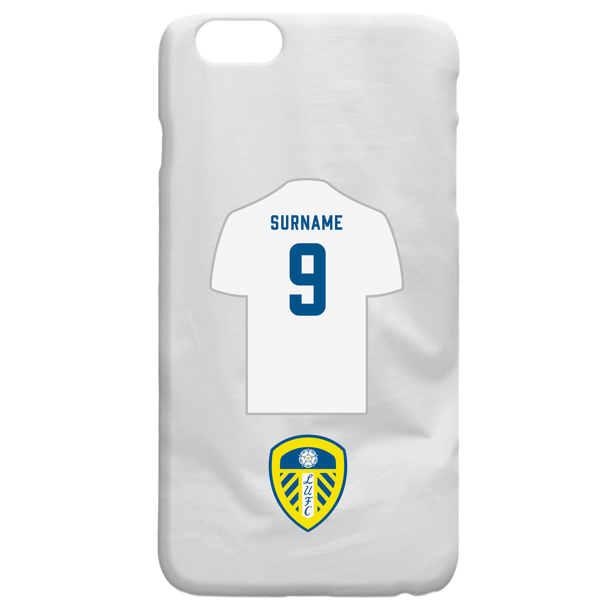 Leeds United FC Shirt Hard Back Phone Case