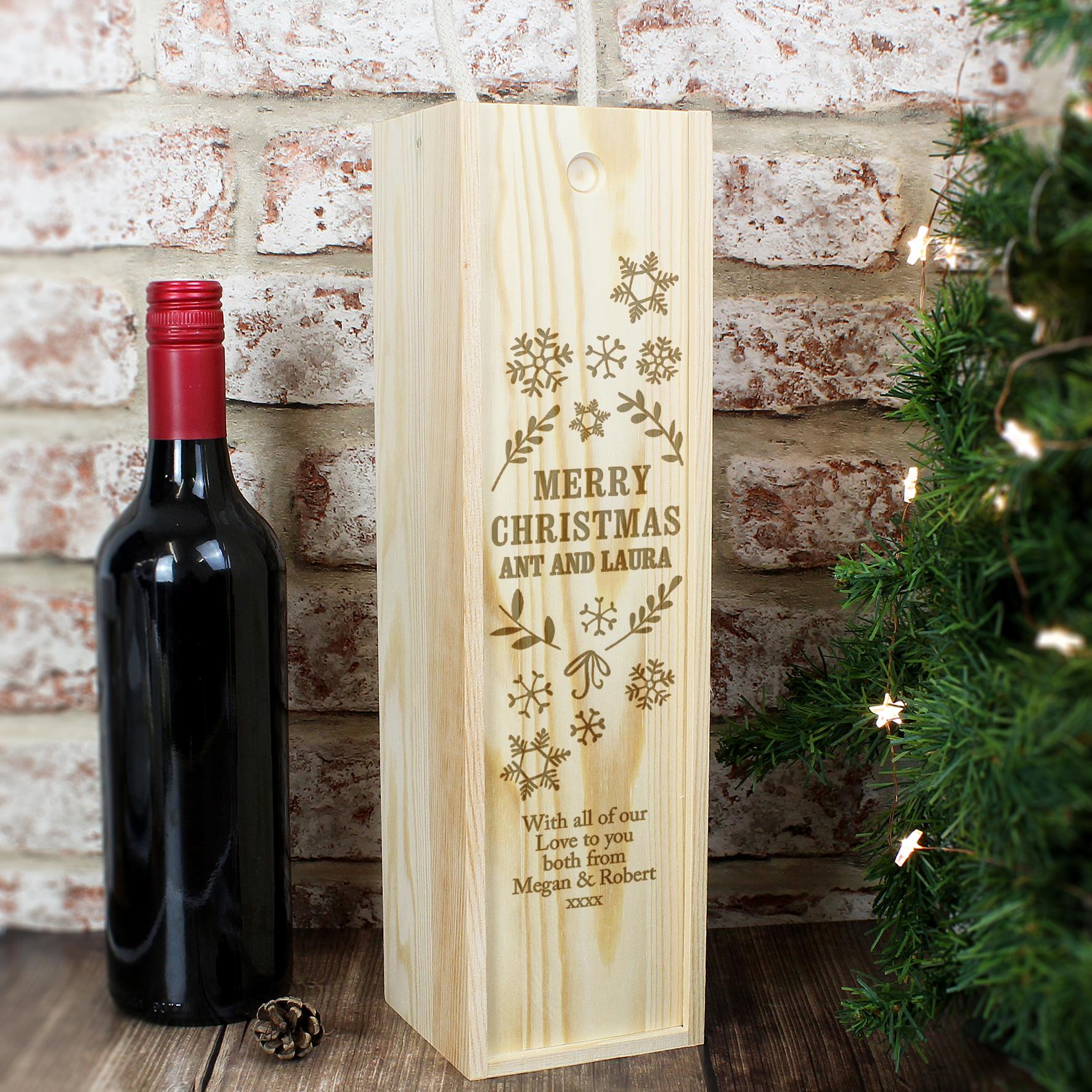Personalised Christmas Frost Bottle Presentation Box