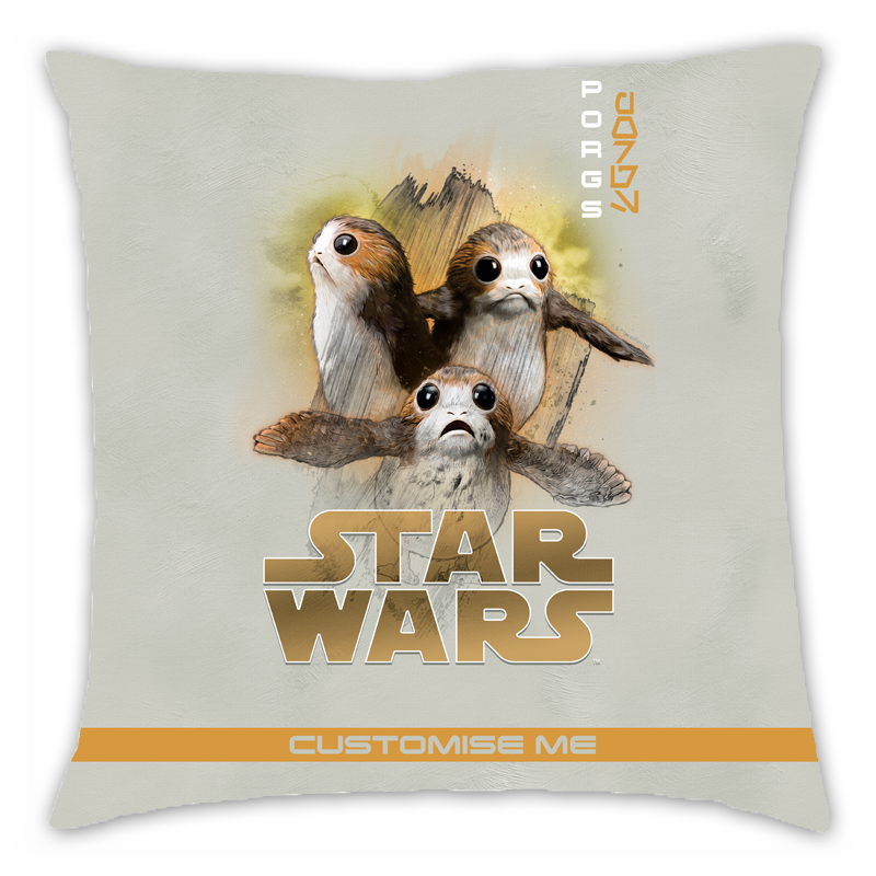 Star Wars Porg Last Jedi Spray Paint Cushion