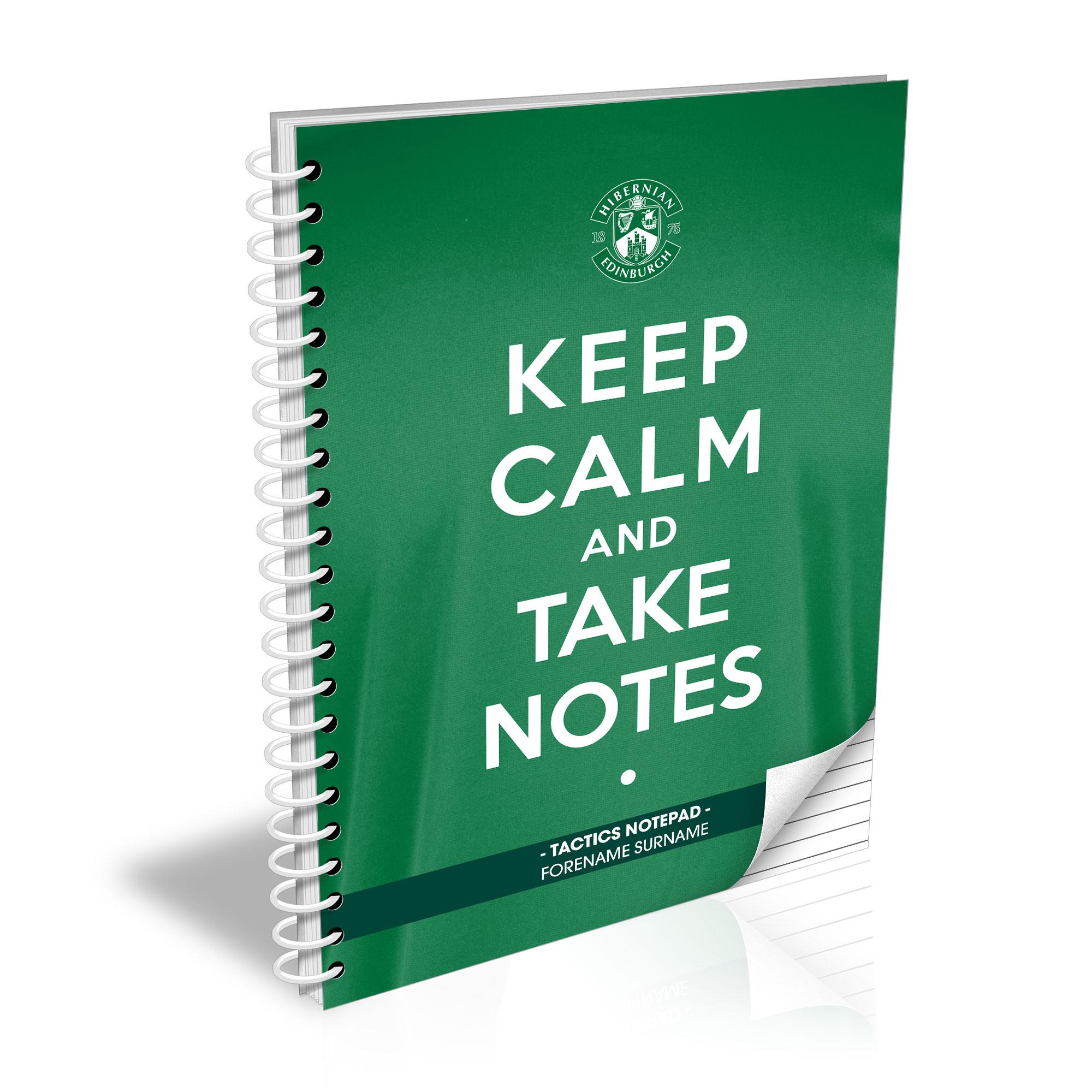 Hibernian FC Keep Calm Notebook