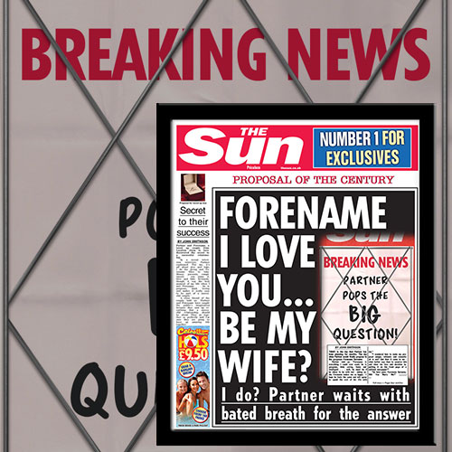 The Sun Proposal News Single Page Print