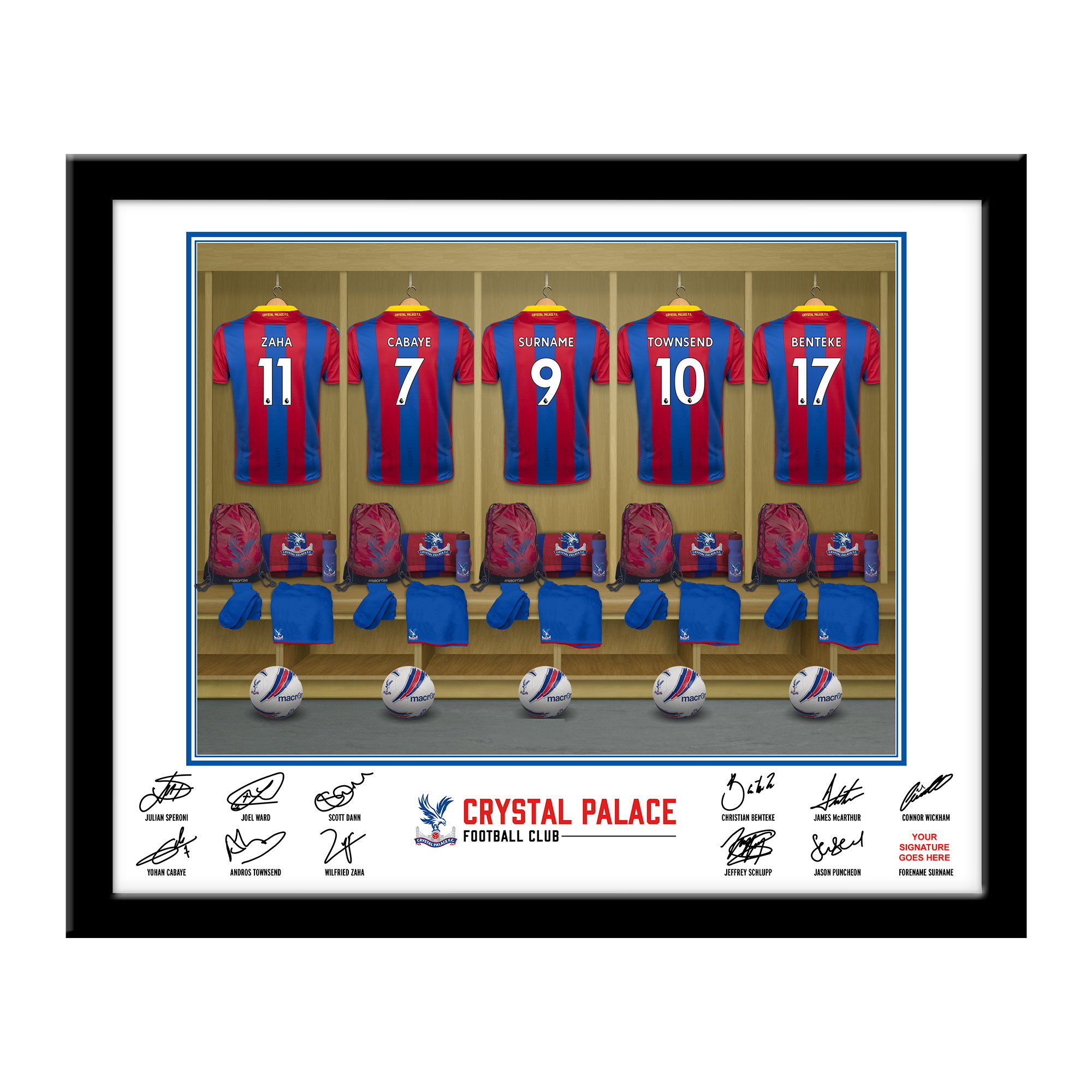 Crystal Palace FC Dressing Room Framed Print