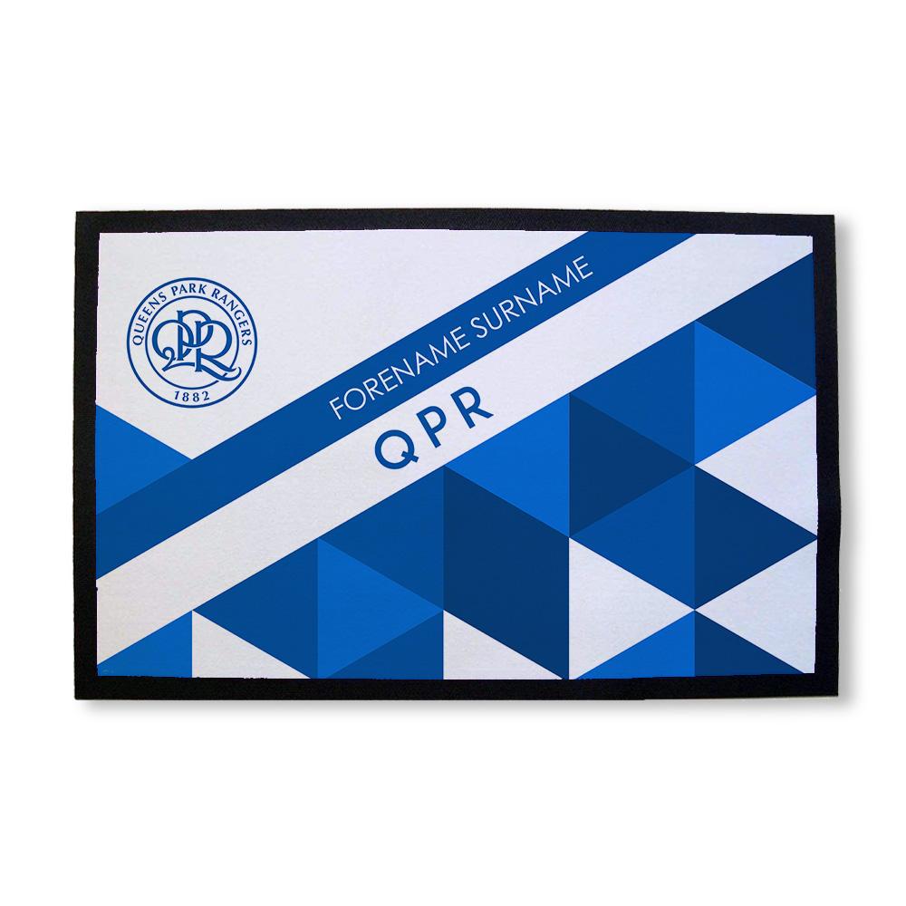 Queens Park Rangers FC Patterned Door Mat