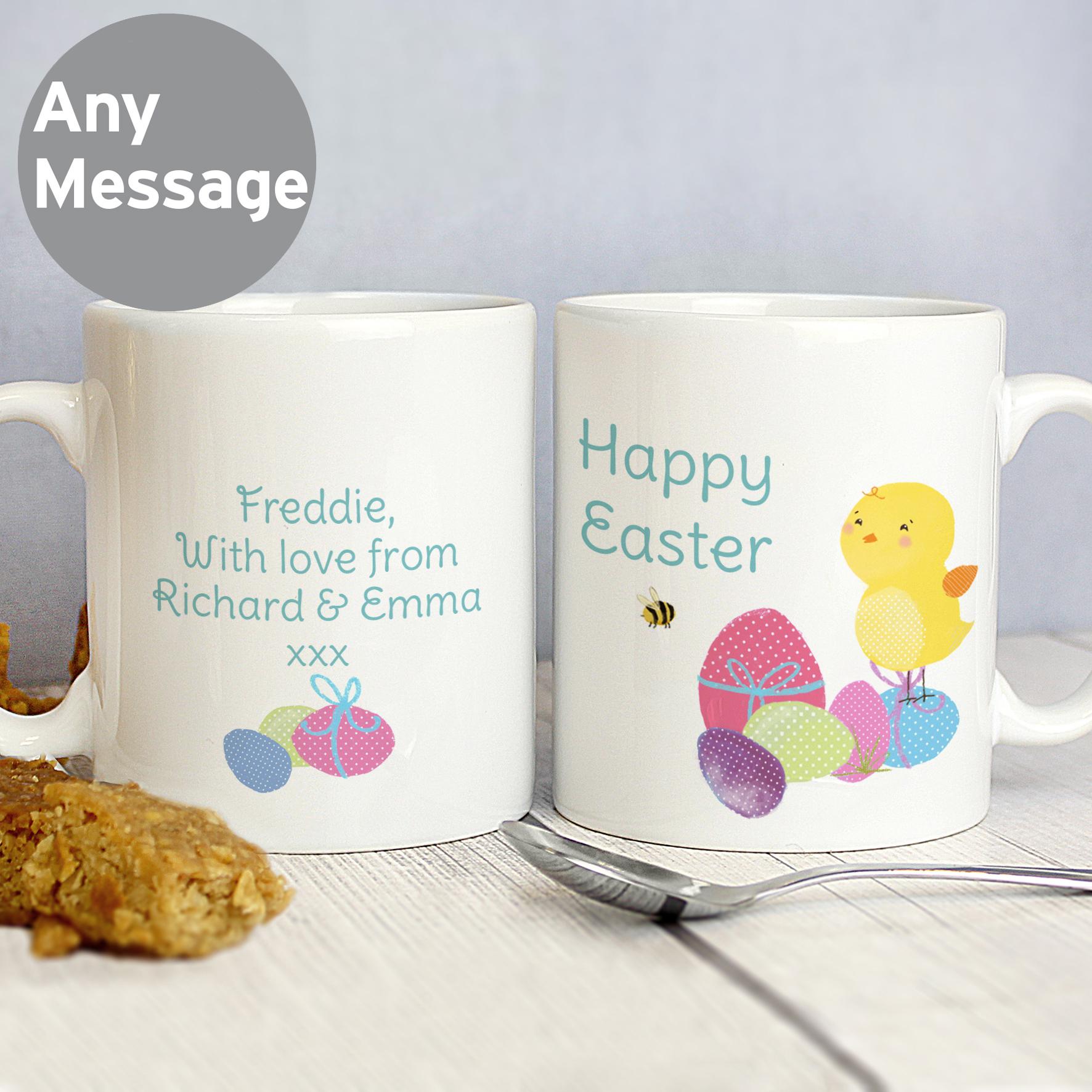 Personalised Easter Meadow Chick Mug